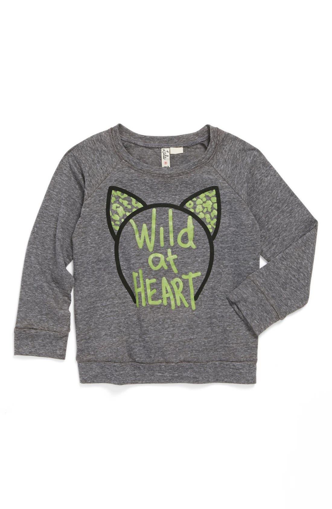 Alternate Image 1 Selected - Lala Rebel 'Wild at Heart' Tee (Toddler Girls)