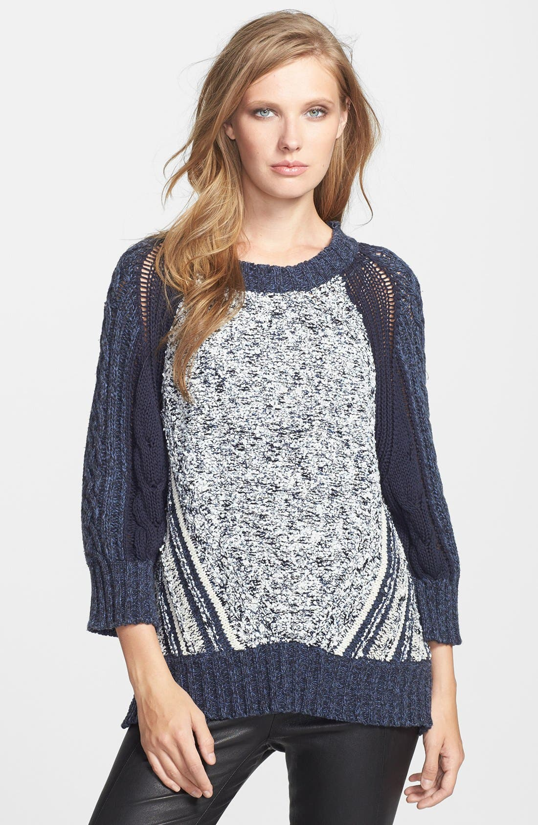 Alternate Image 1 Selected - MARC BY MARC JACOBS 'Claudia' Cotton Blend Sweater