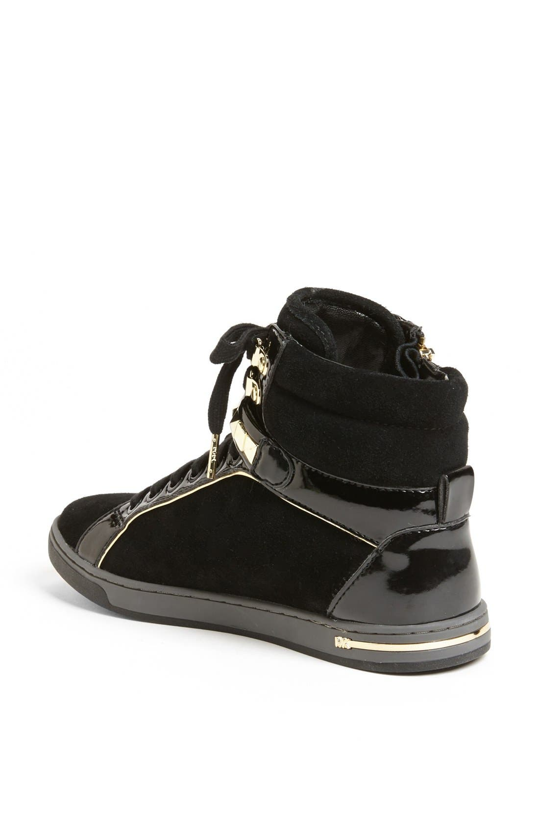 Alternate Image 2  - MICHAEL Michael Kors 'Glam' Studded High Top Sneaker