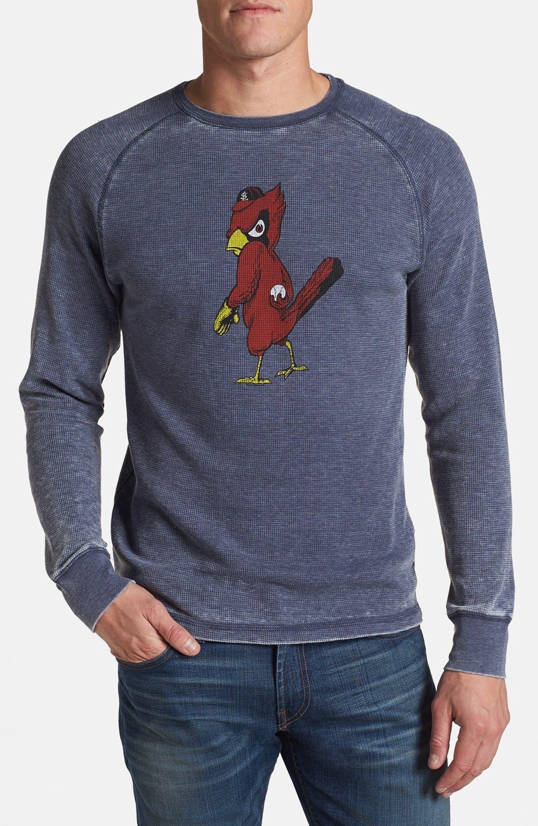 Main Image - Red Jacket 'Cardinals - Thermal Burn' Long Sleeve T-Shirt
