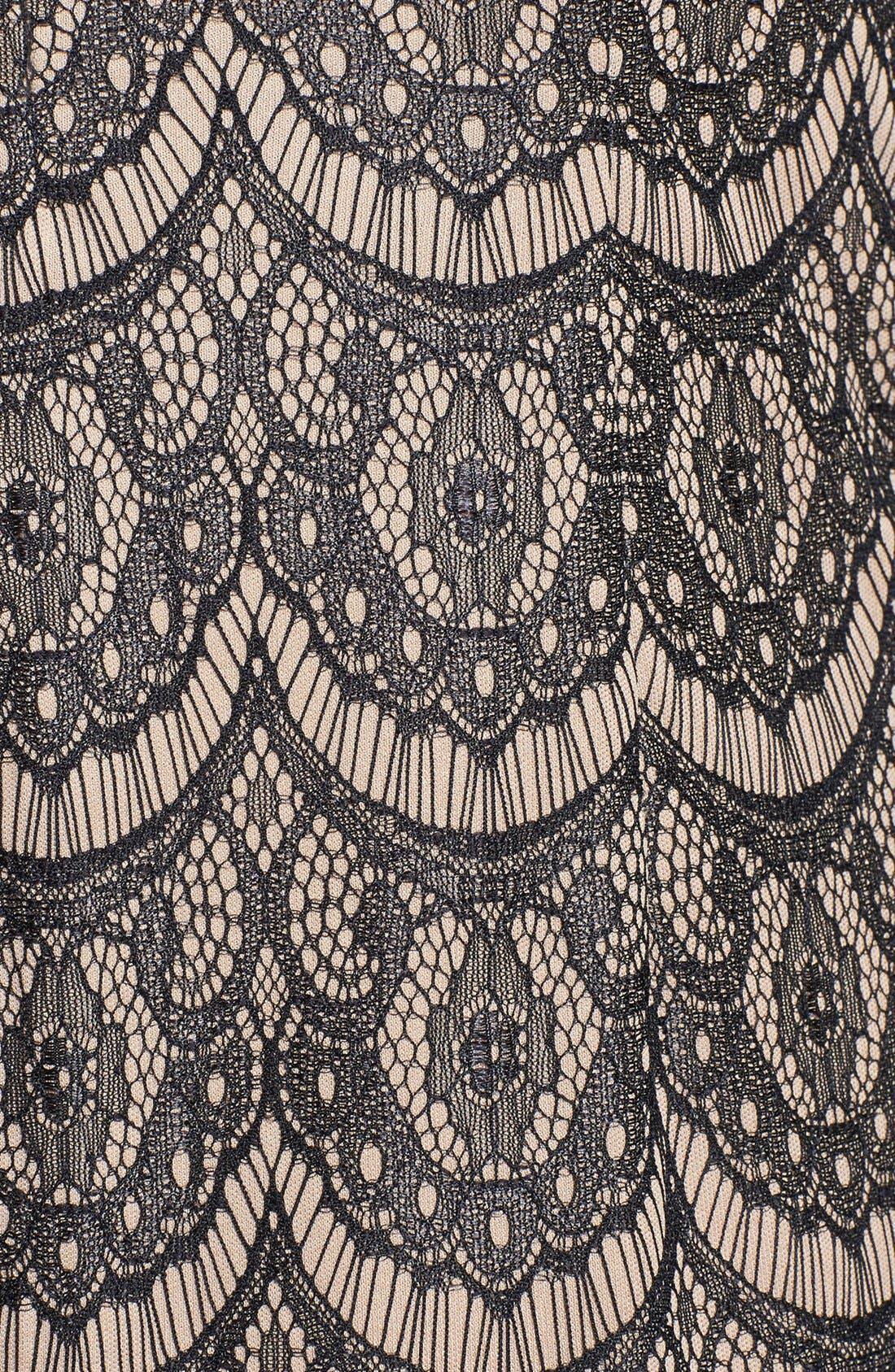 Alternate Image 4  - Donna Ricco Blouson Sleeve Lace Shift Dress (Regular & Petite)