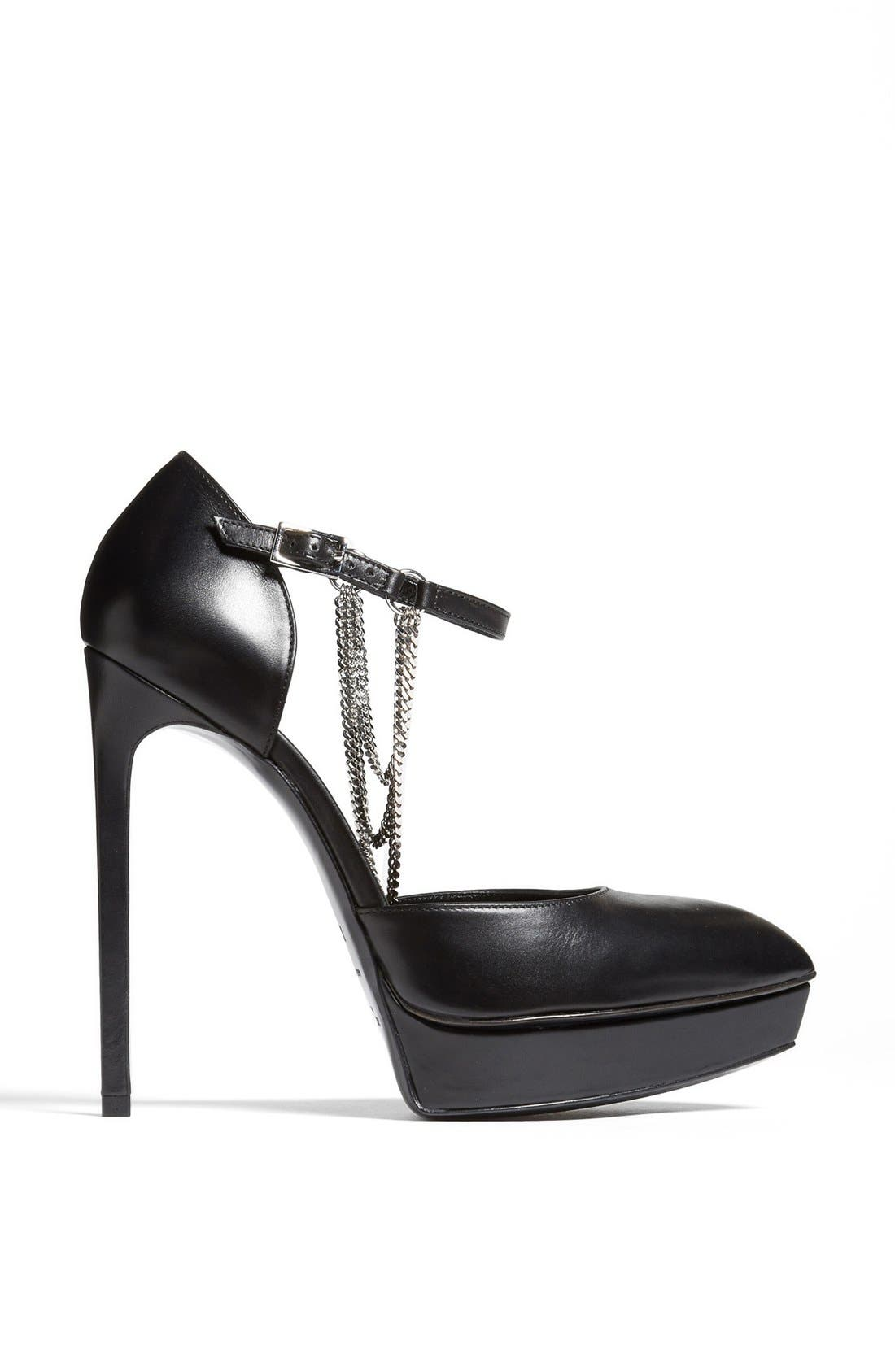 Alternate Image 4  - Saint Laurent 'Janis' Chain Detail Platform Pump