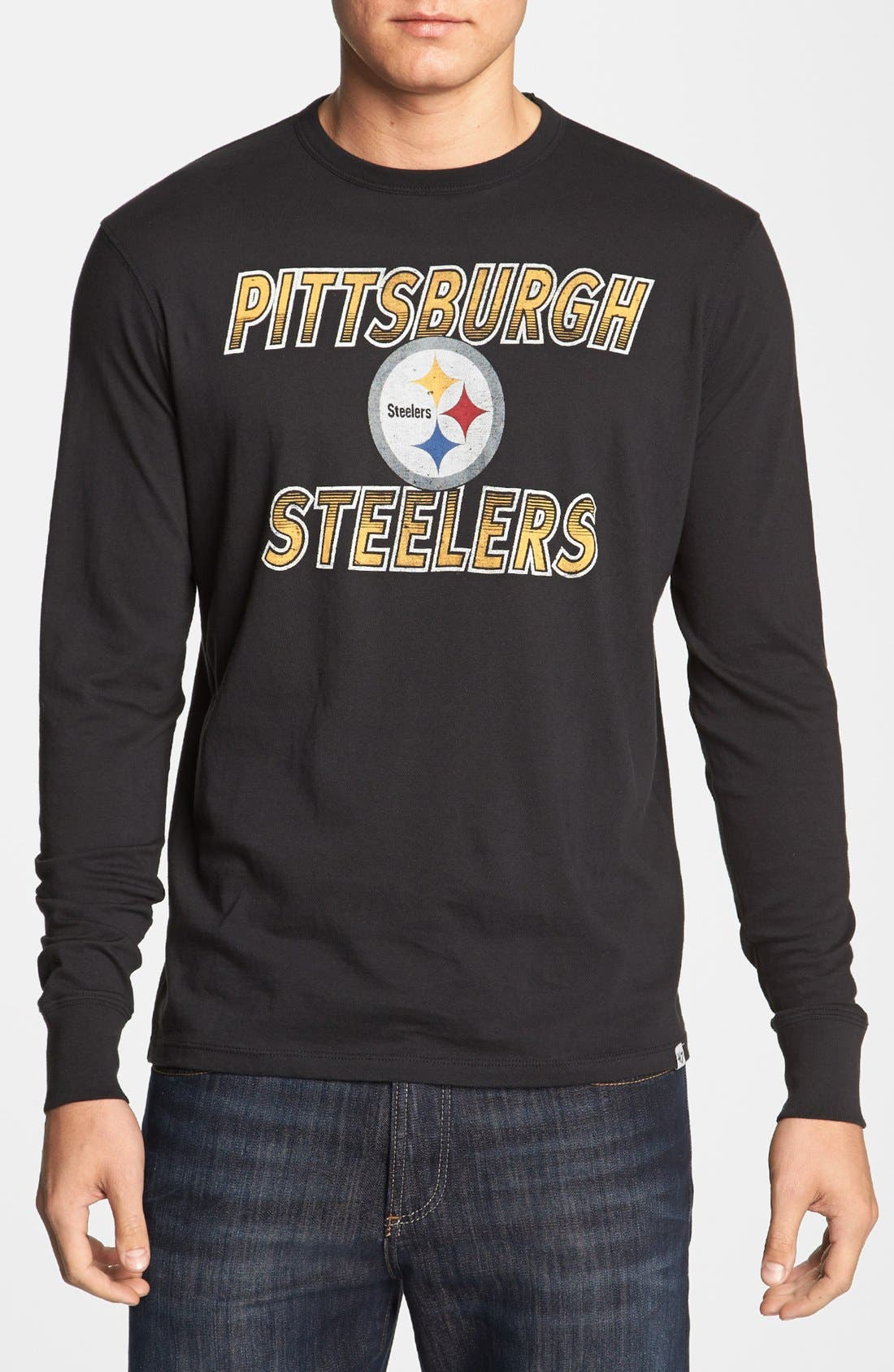 Alternate Image 1 Selected - '47 'Pittsburgh Steelers - Flanker' Long Sleeve T-Shirt