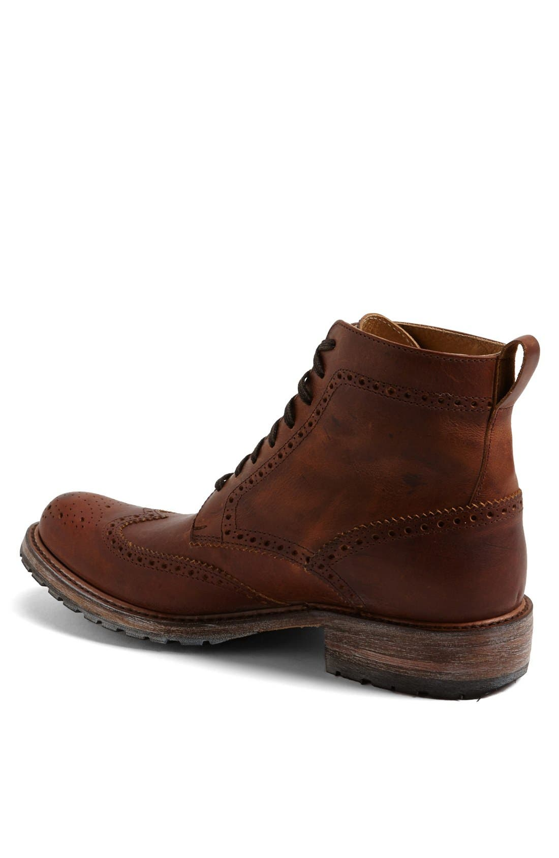'Skye' Wingtip Boot,                             Alternate thumbnail 2, color,                             Tan