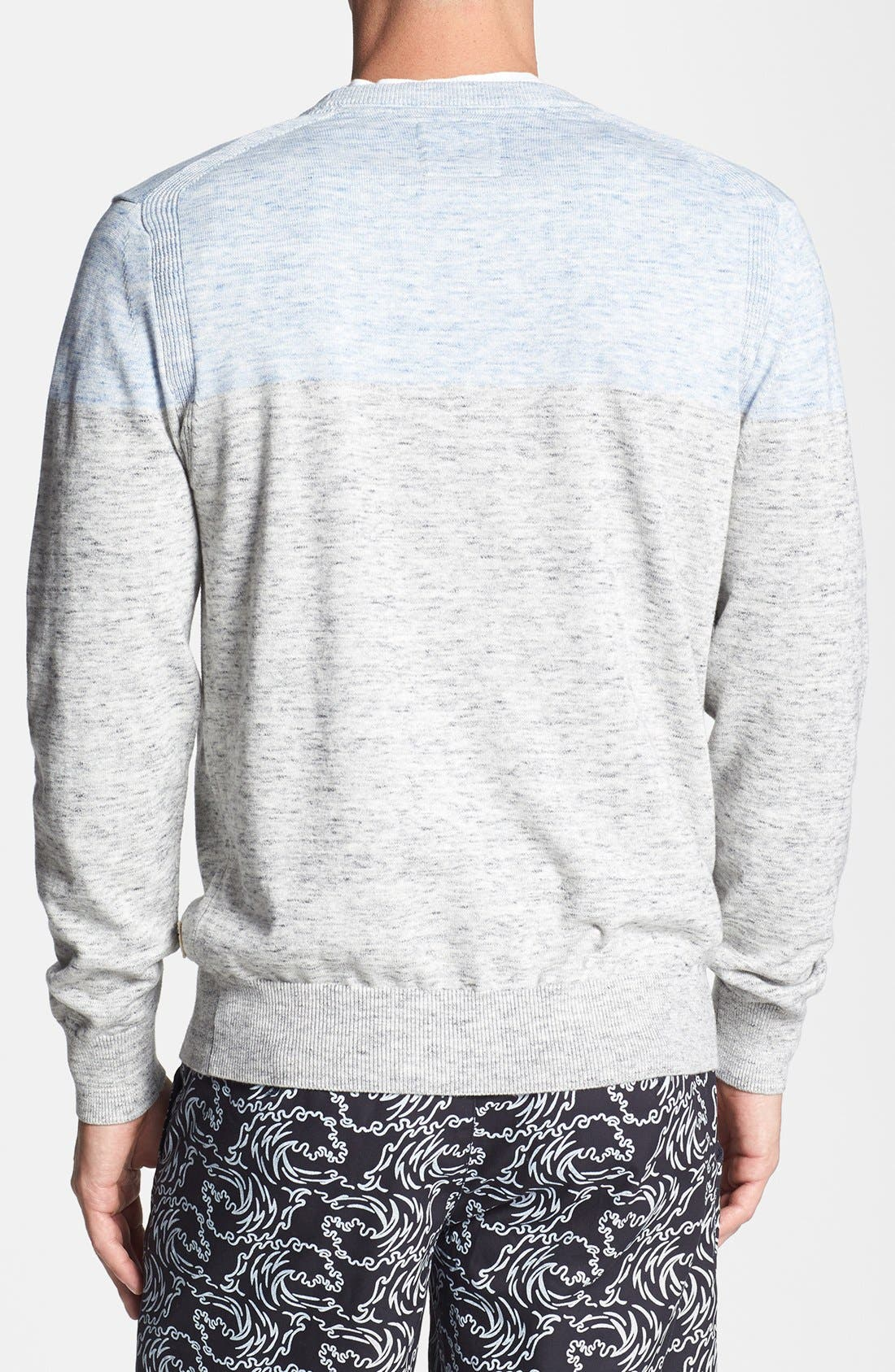 Alternate Image 2  - Surfside Supply Colorblock Heathered Cotton Sweater