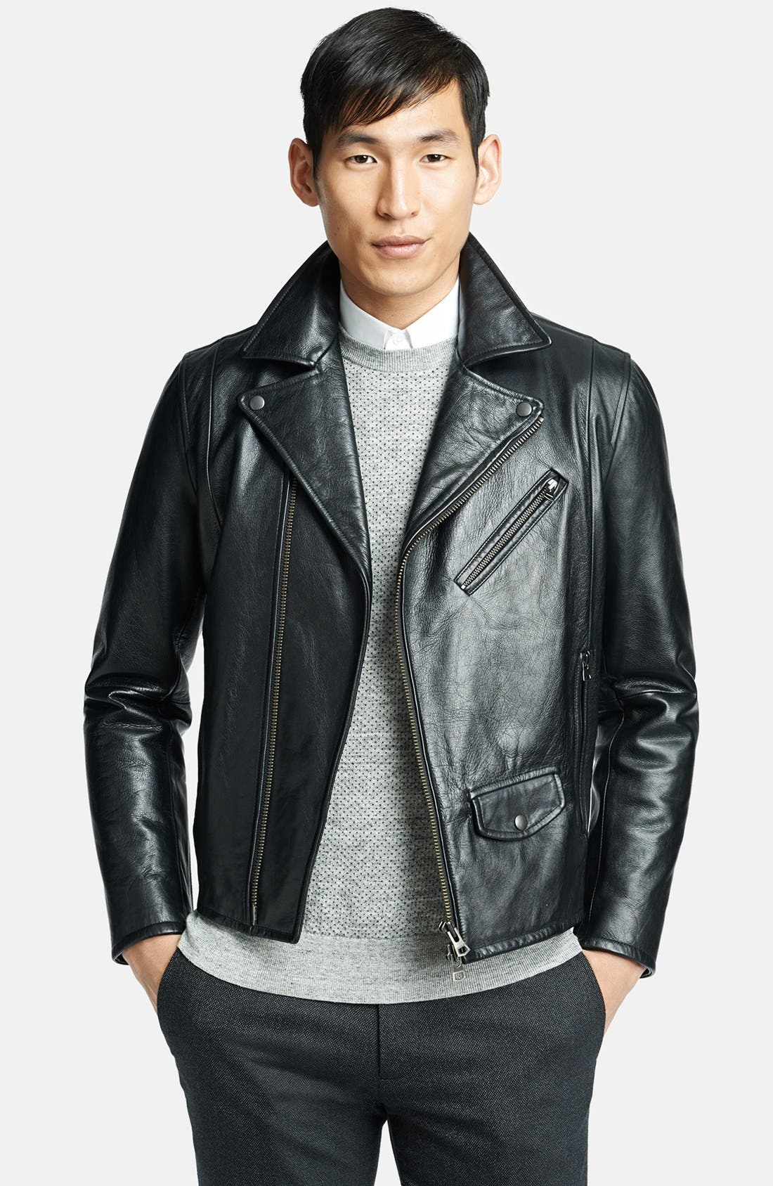 Main Image - Theory 'Vilson L Ceti' Leather Moto Jacket