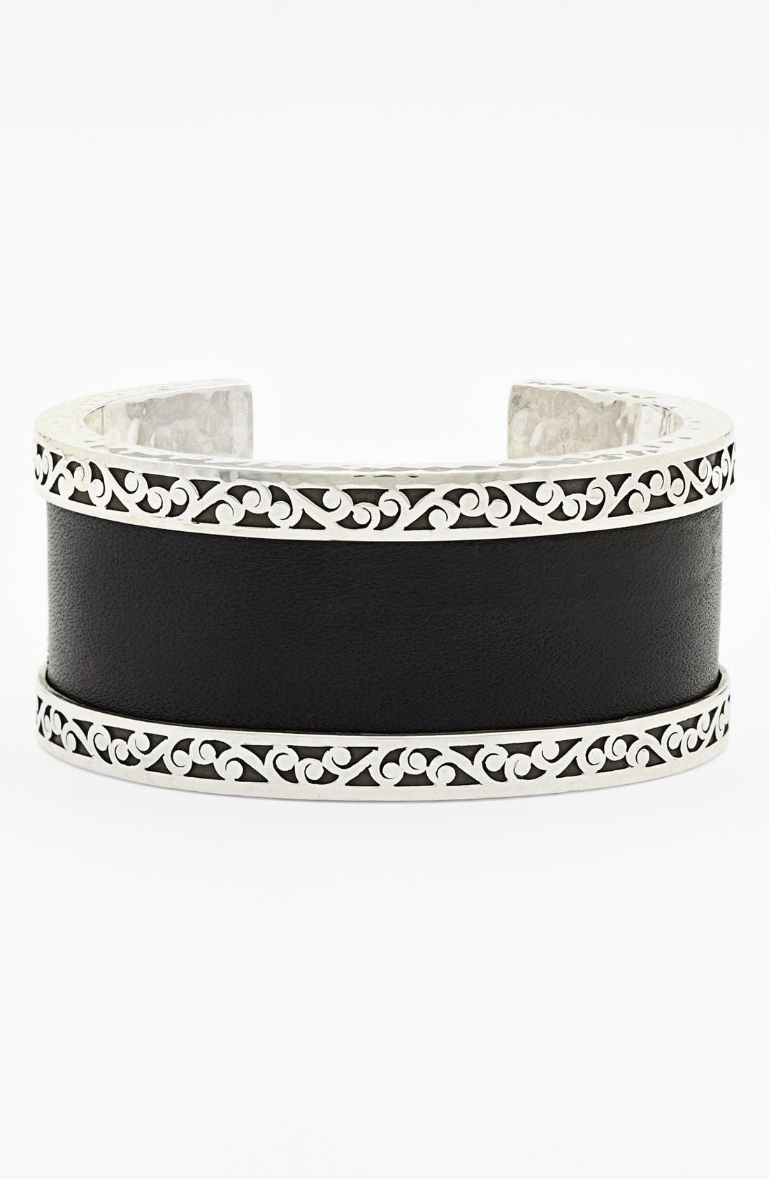 Main Image - Lois Hill Medium Leather & Sterling Silver Cuff