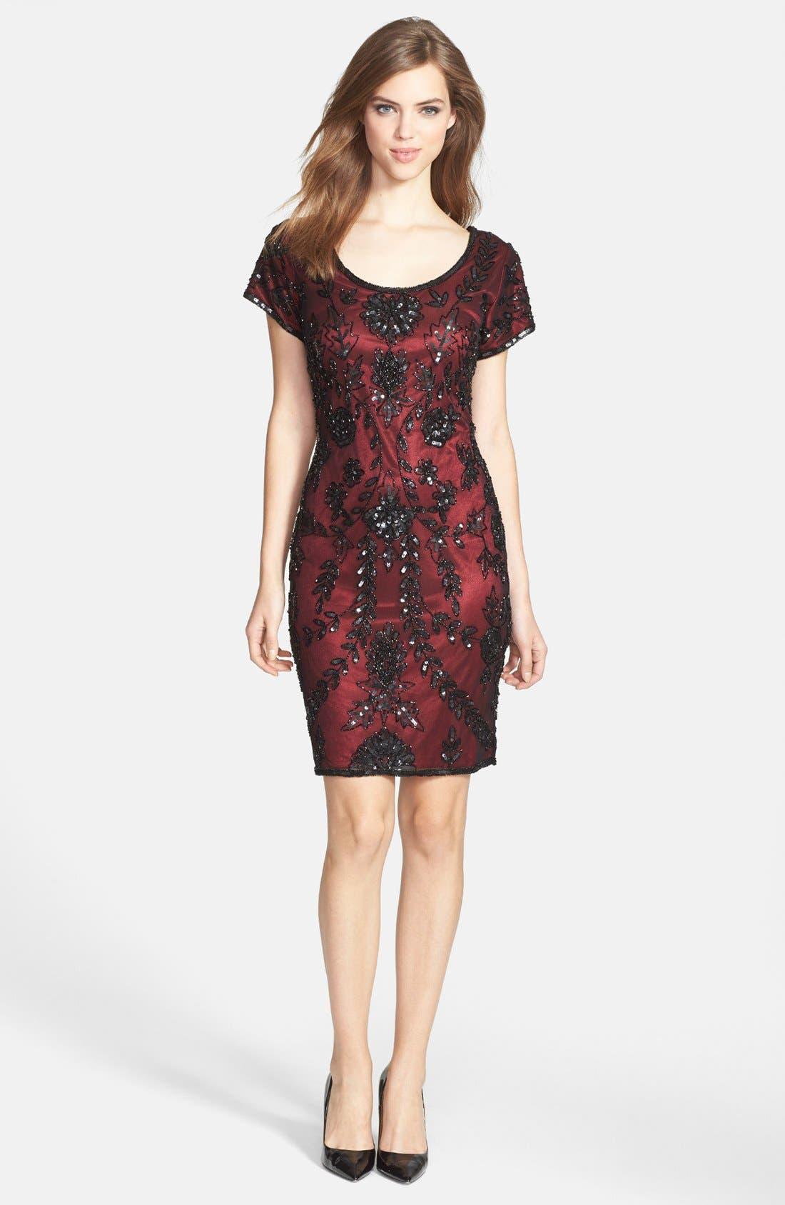 Alternate Image 2  - Pisarro Nights Sequin Silk Chiffon Dress