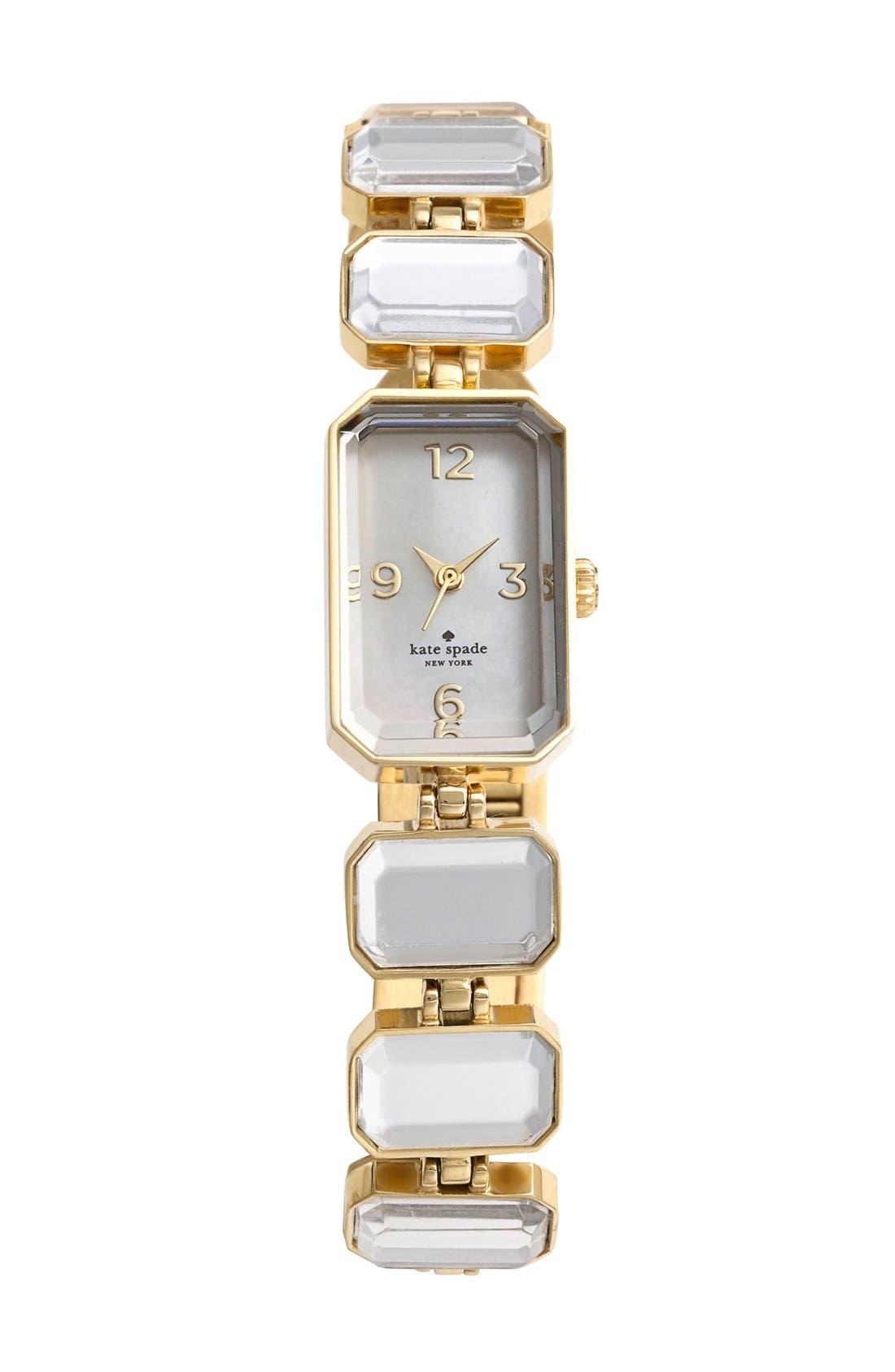 Main Image - kate spade new york 'wythe' crystal bracelet watch, 10mm x 25mm