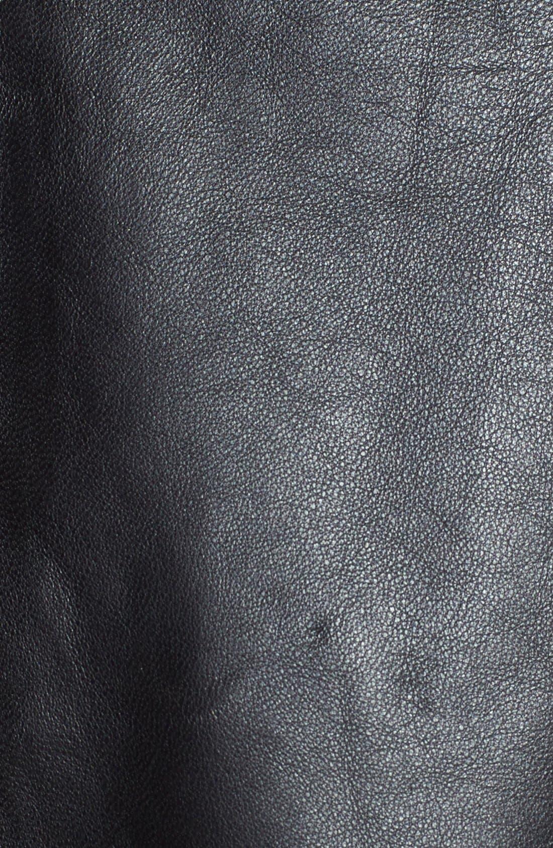 Alternate Image 3  - Halogen® Contrast Border Flared Leather Skirt