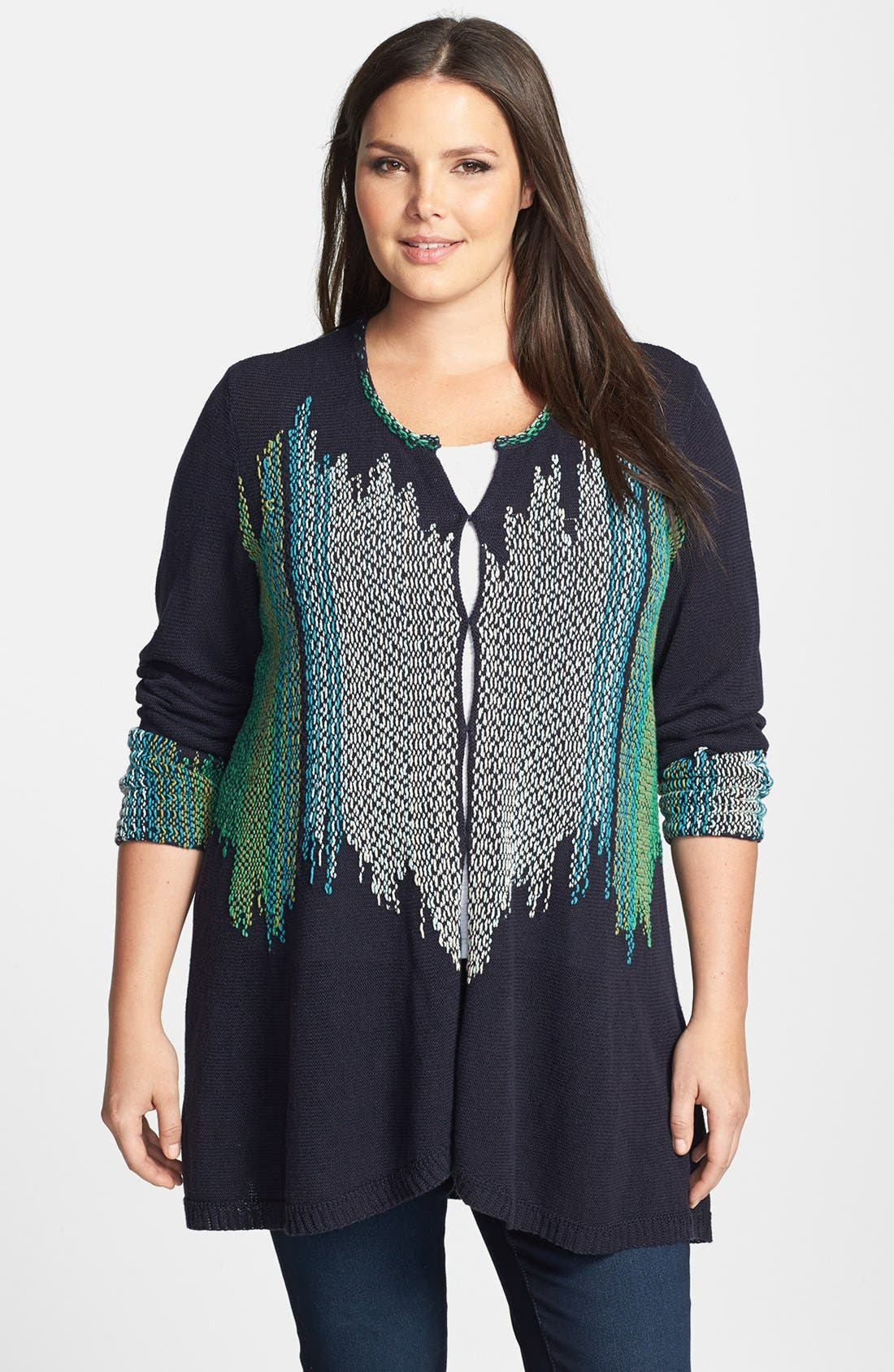 Alternate Image 1 Selected - NIC+ZOE 'Color Weave' Cardigan (Plus Size)