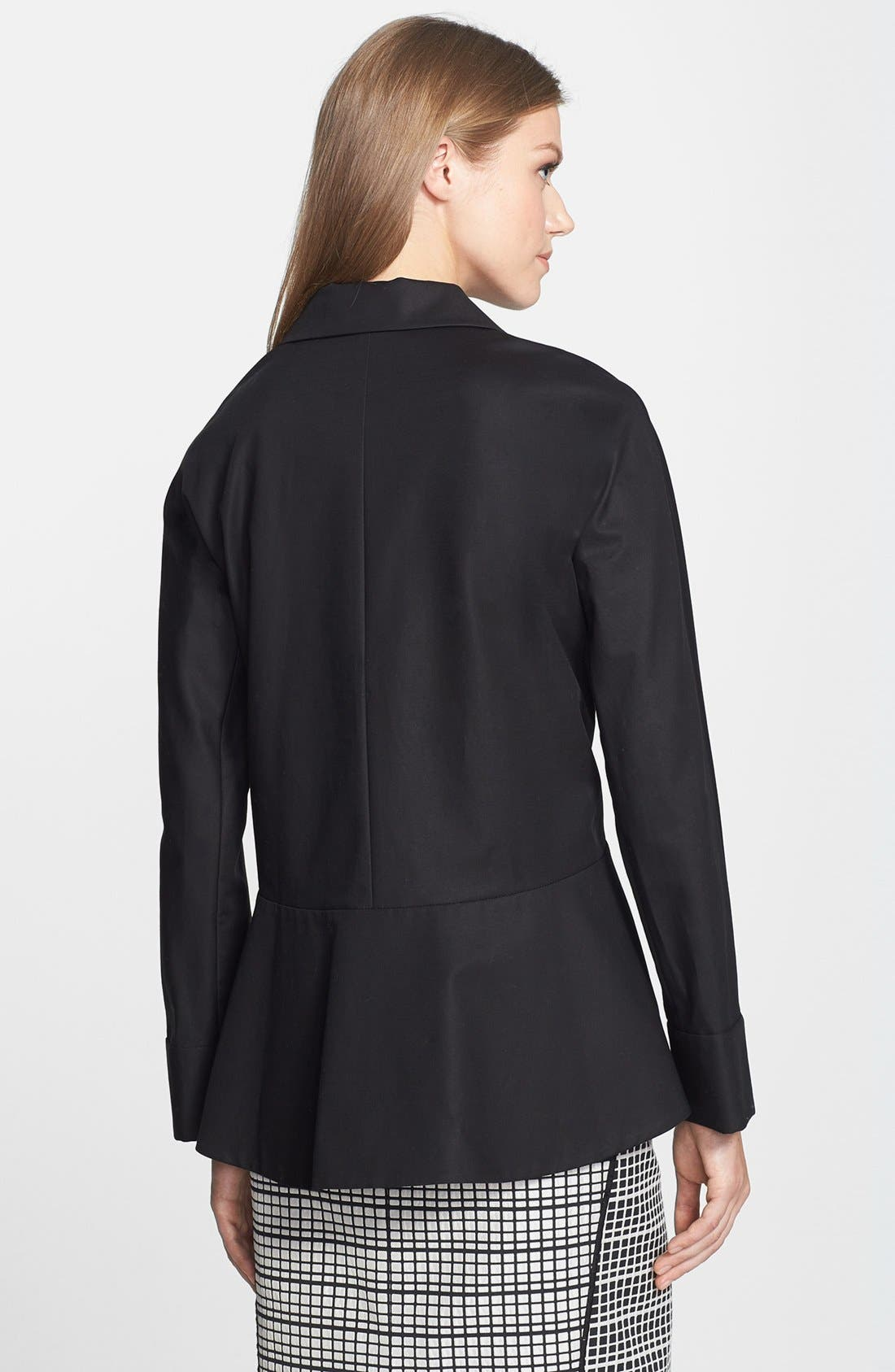 Alternate Image 2  - Lafayette 148 New York 'Lara' Stretch Cotton Peplum Jacket