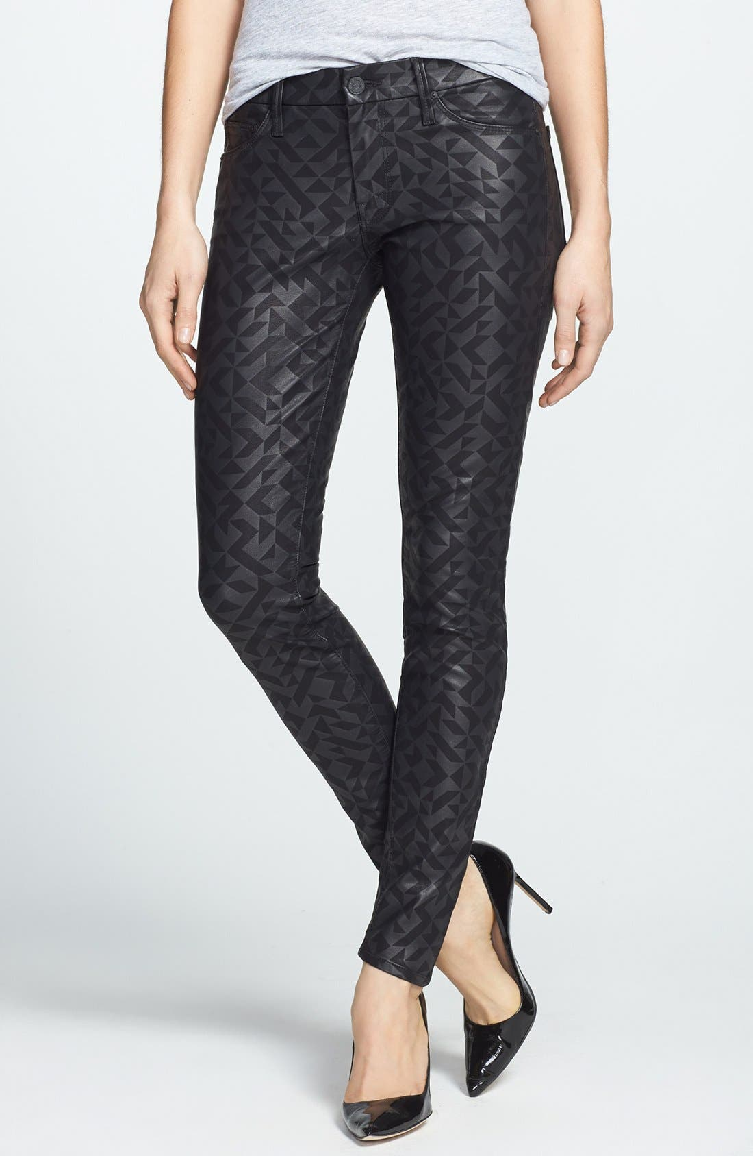 Main Image - MOTHER 'The Looker' Coated Skinny Jeans