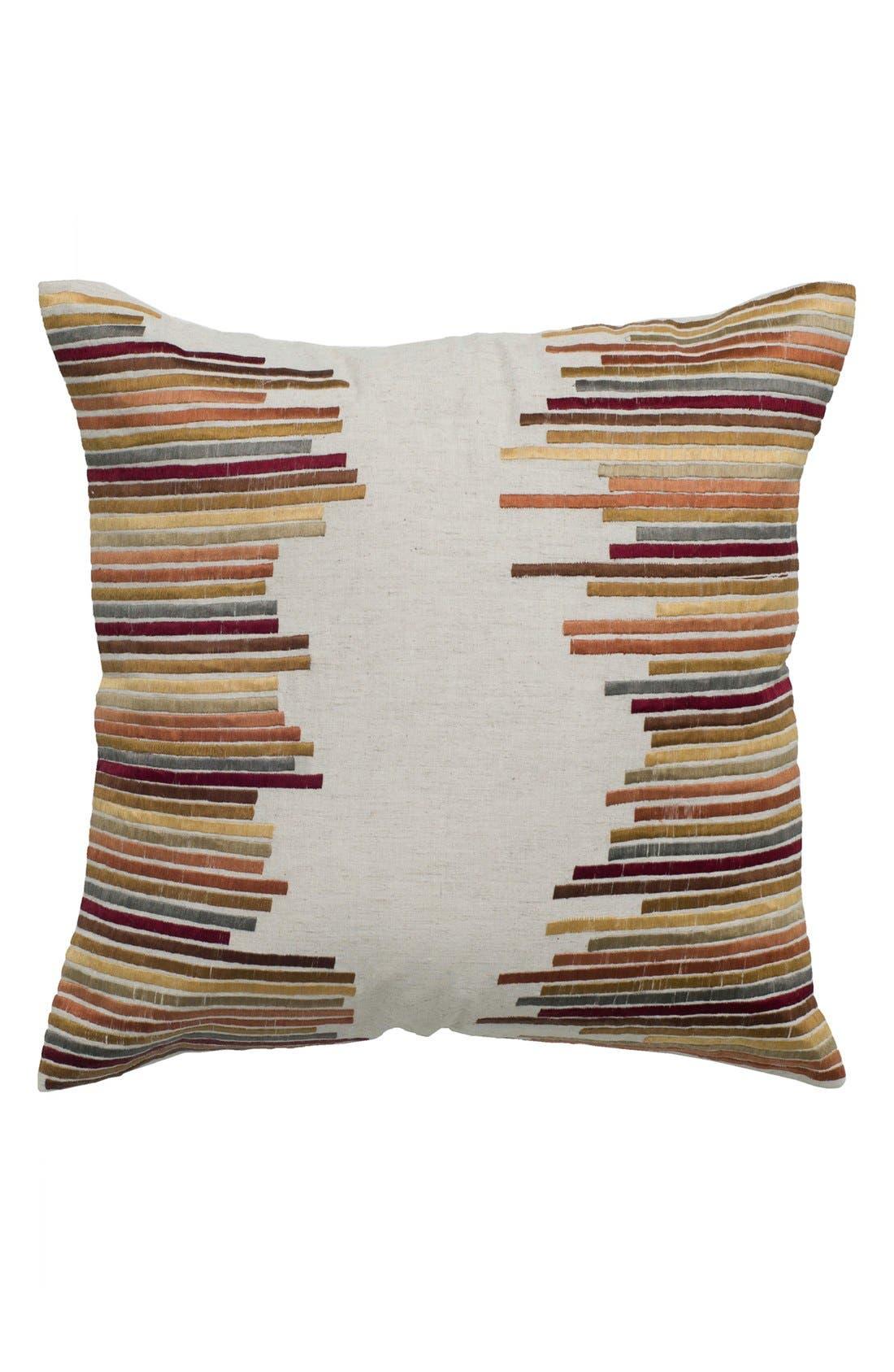 'Jagged Stripe' Pillow,                         Main,                         color, Beige/ Khaki