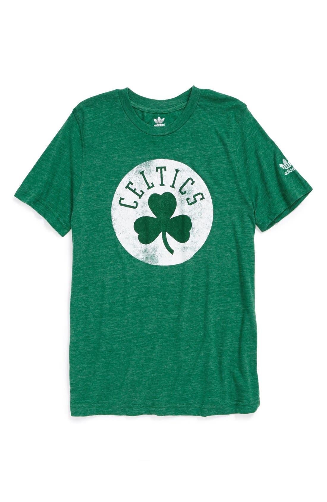 Main Image - adidas 'Boston Celtics' T-Shirt (Big Boys)