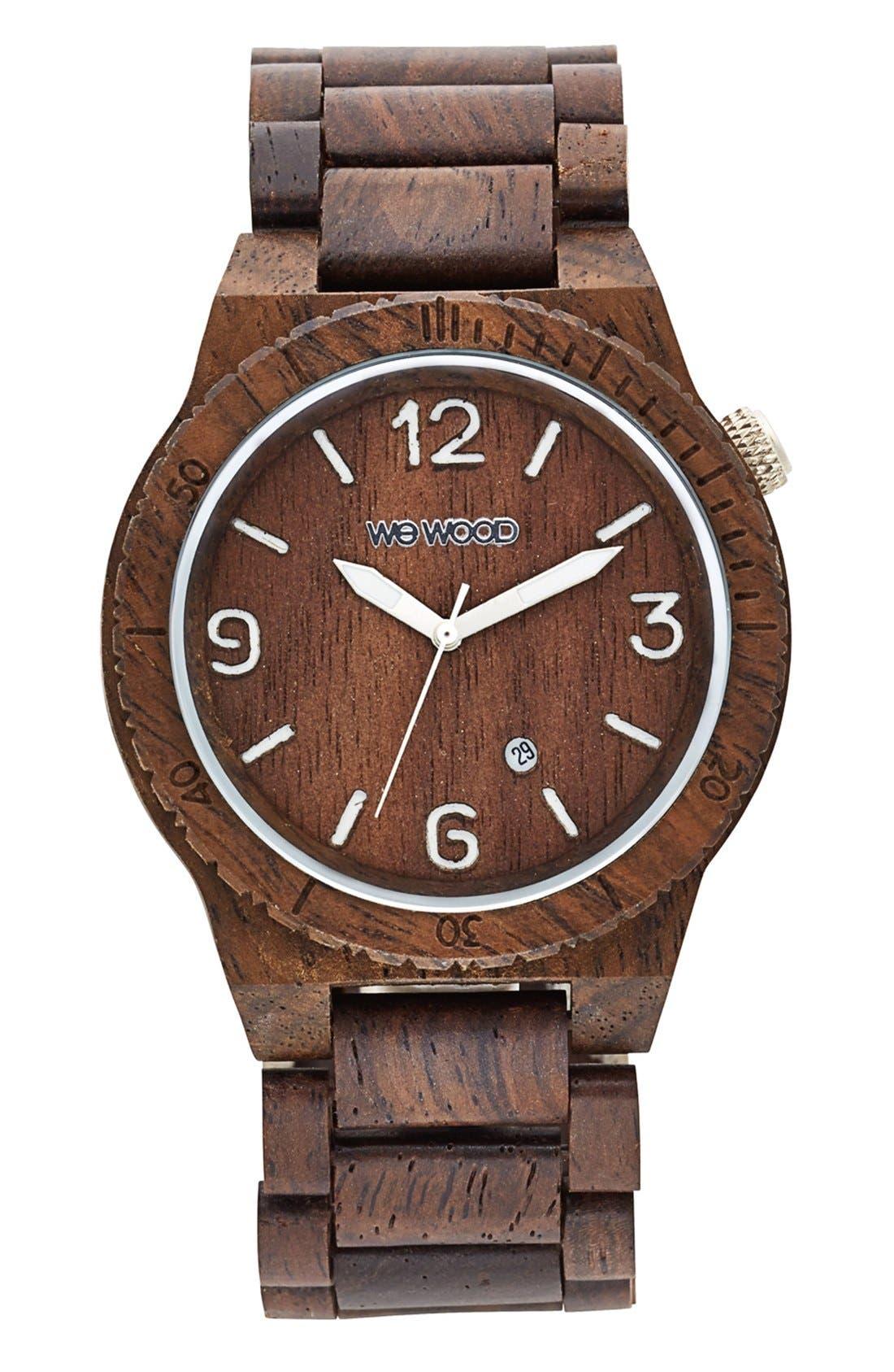 WEWOOD Alpha Wood Bracelet Watch, 46mm