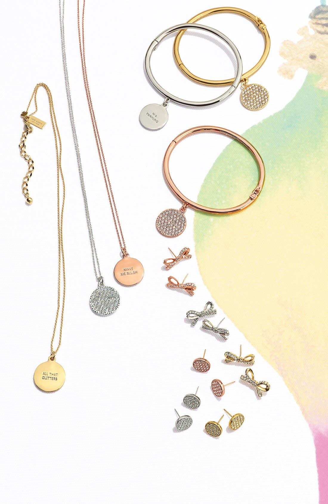 Alternate Image 5  - kate spade new york 'idiom - all that glitters' boxed pavé pendant necklace