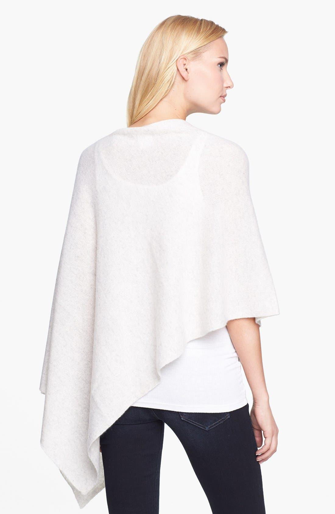 Alternate Image 2  - White + Warren Asymmetrical Cashmere Poncho