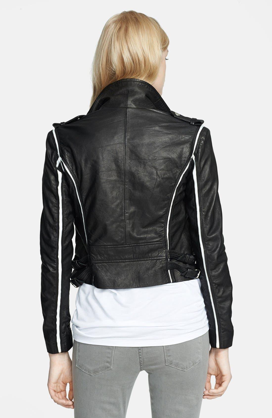 Alternate Image 2  - IRO 'Ashvie' Leather Moto Jacket