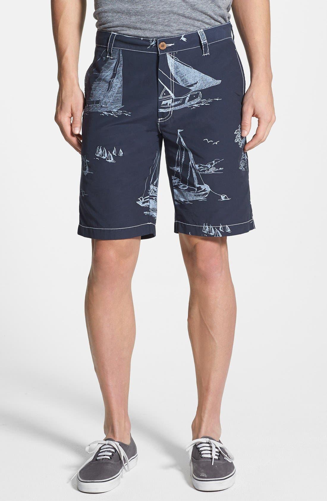 Alternate Image 1 Selected - Tailor Vintage Sailboat Print Hybrid Shorts