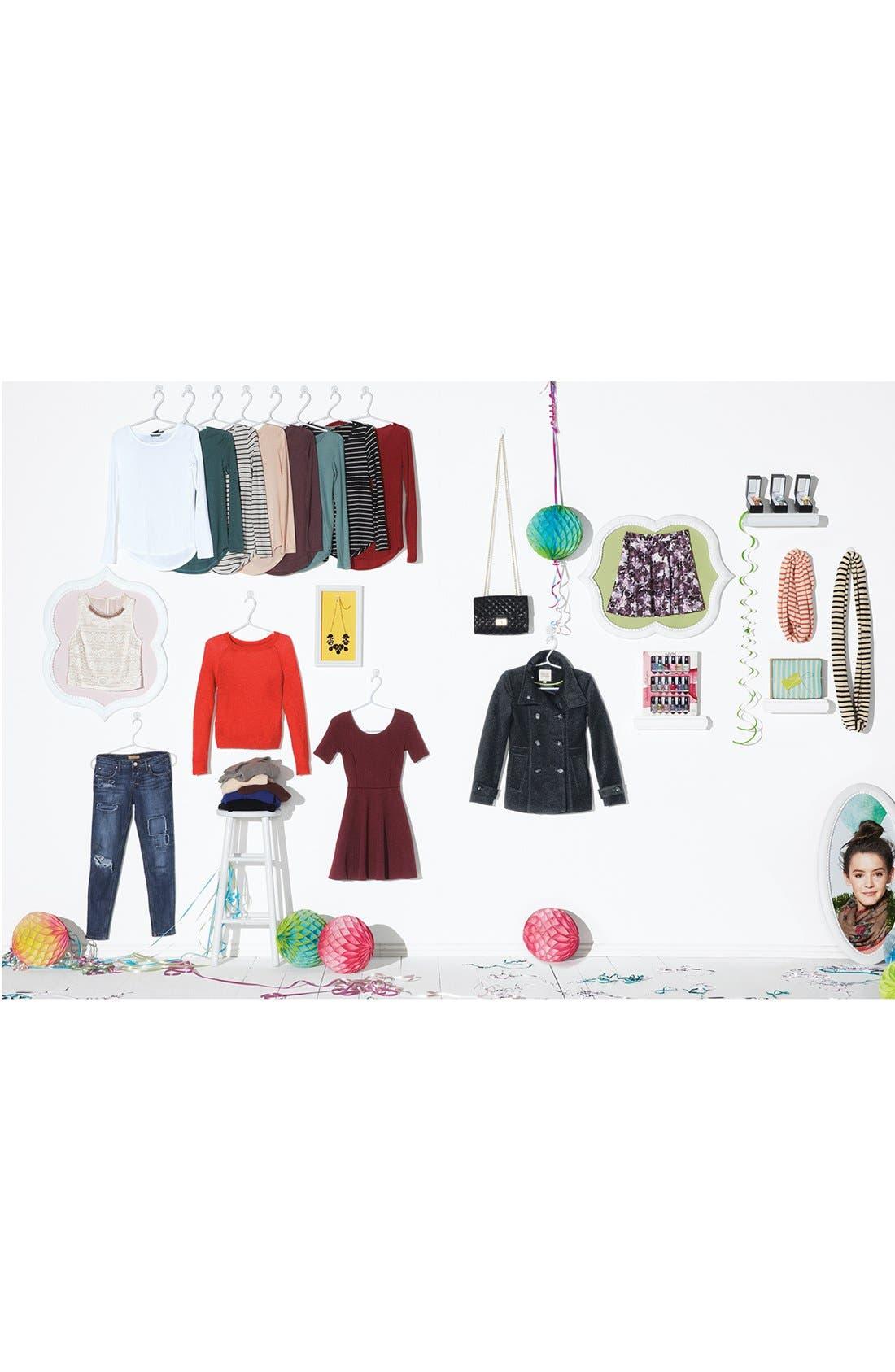 Alternate Image 5  - Lulu Quilted Crossbody Bag (Juniors)