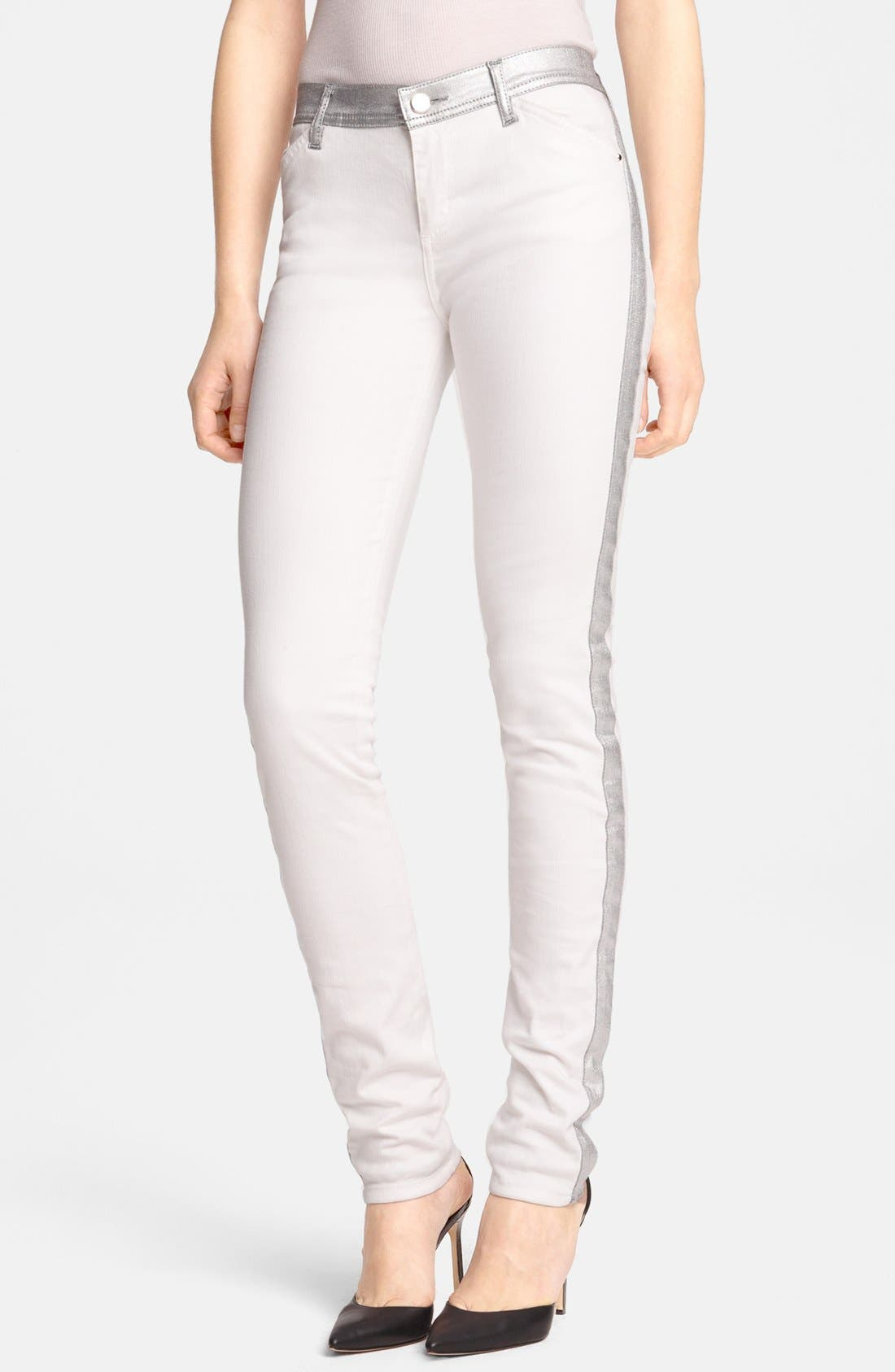 Main Image - Faith Connexion Metallic Trim Skinny Jeans