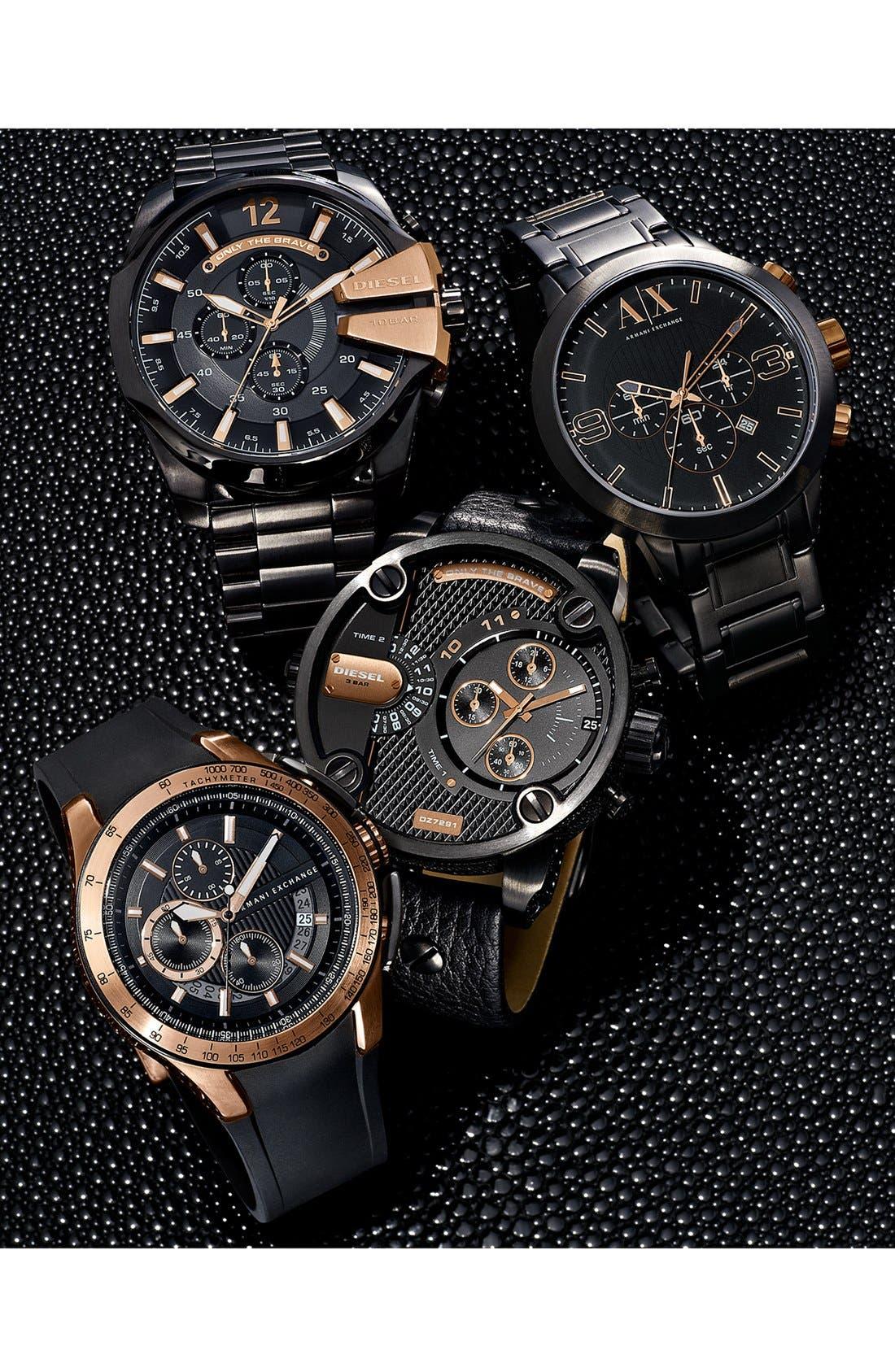 Alternate Image 3  - AX Armani Exchange Chronograph Silicone Strap Watch, 45mm