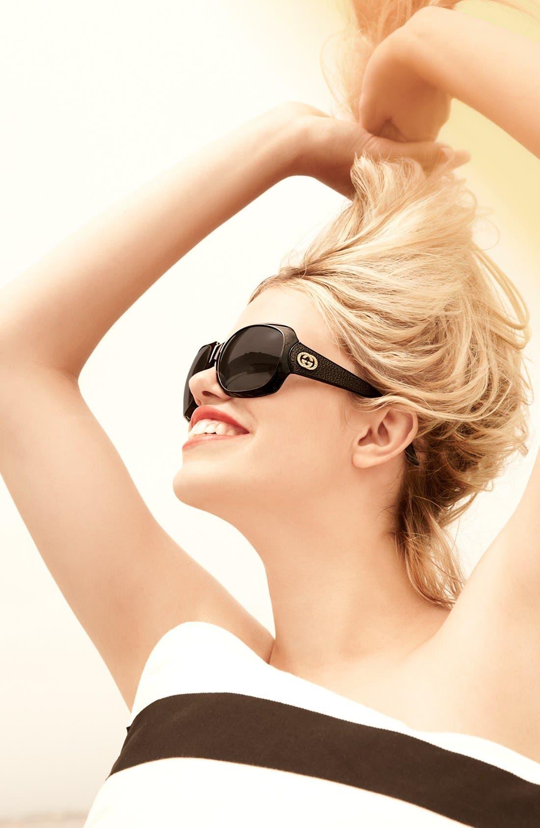 Alternate Image 2  - Gucci 60mm Oversized Sunglasses