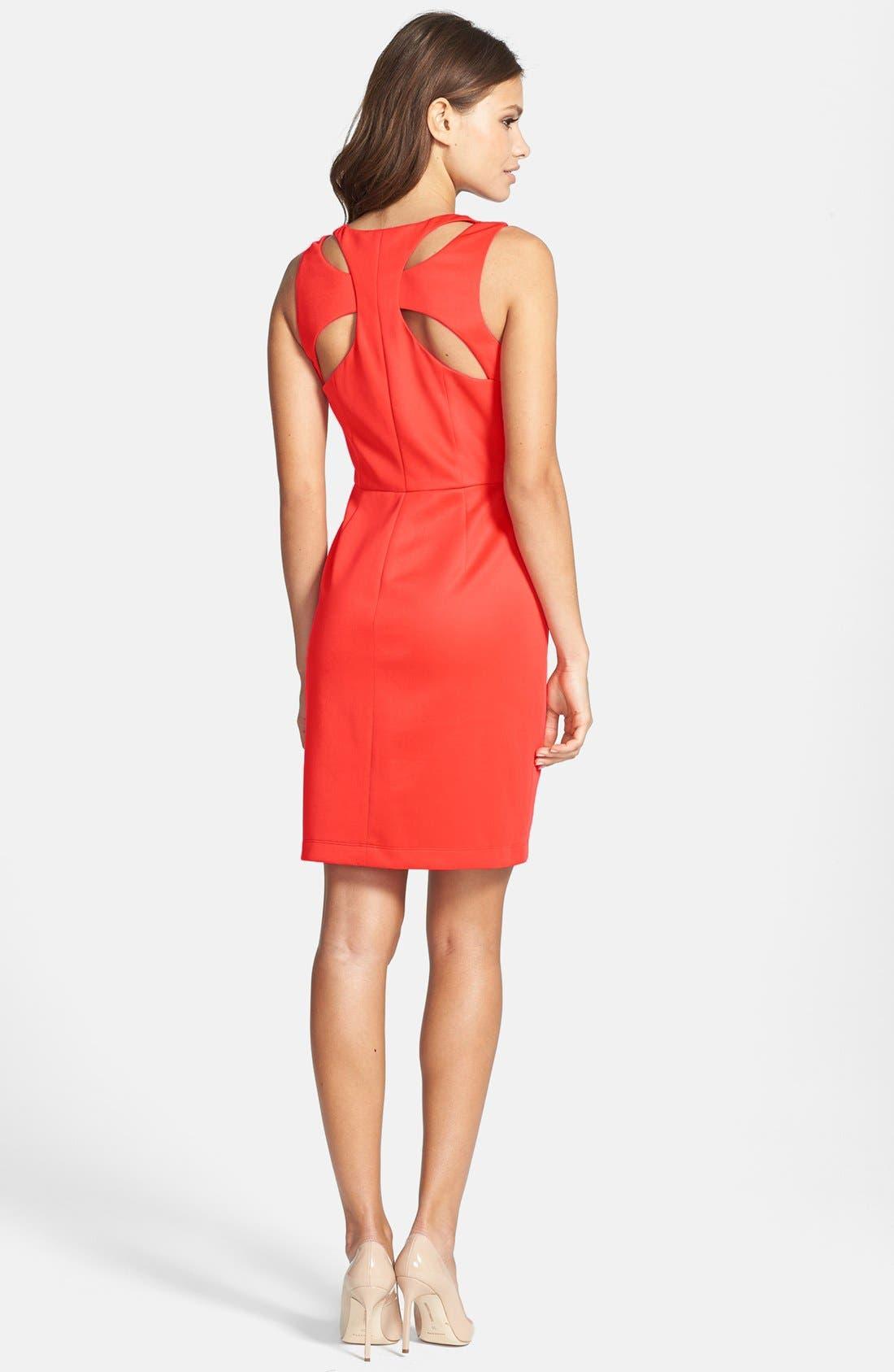 Alternate Image 3  - Jessica Simpson Cutout Back Scuba Sheath Dress