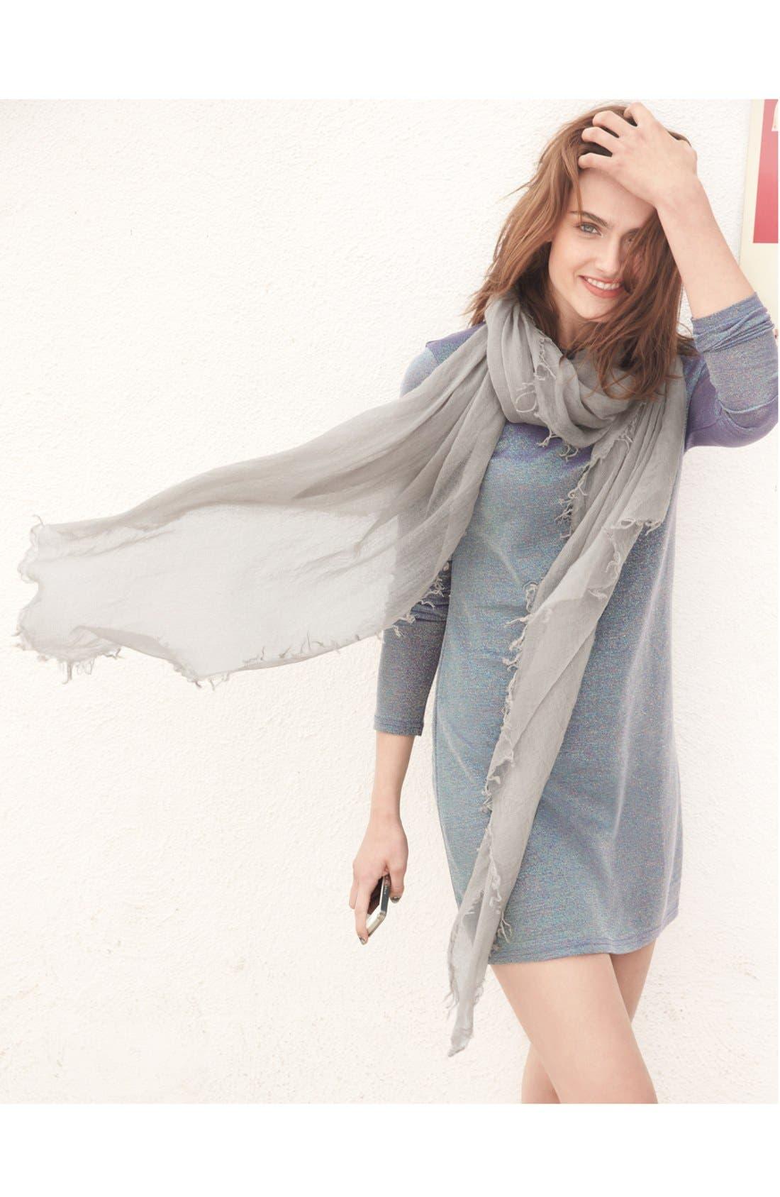 Alternate Image 3  - Halogen® Crinkled Cashmere Wrap