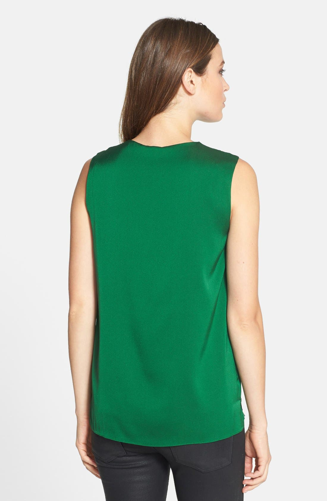 Alternate Image 2  - Elie Tahari 'Anabelle' Sleeveless Stretch Silk Blouse