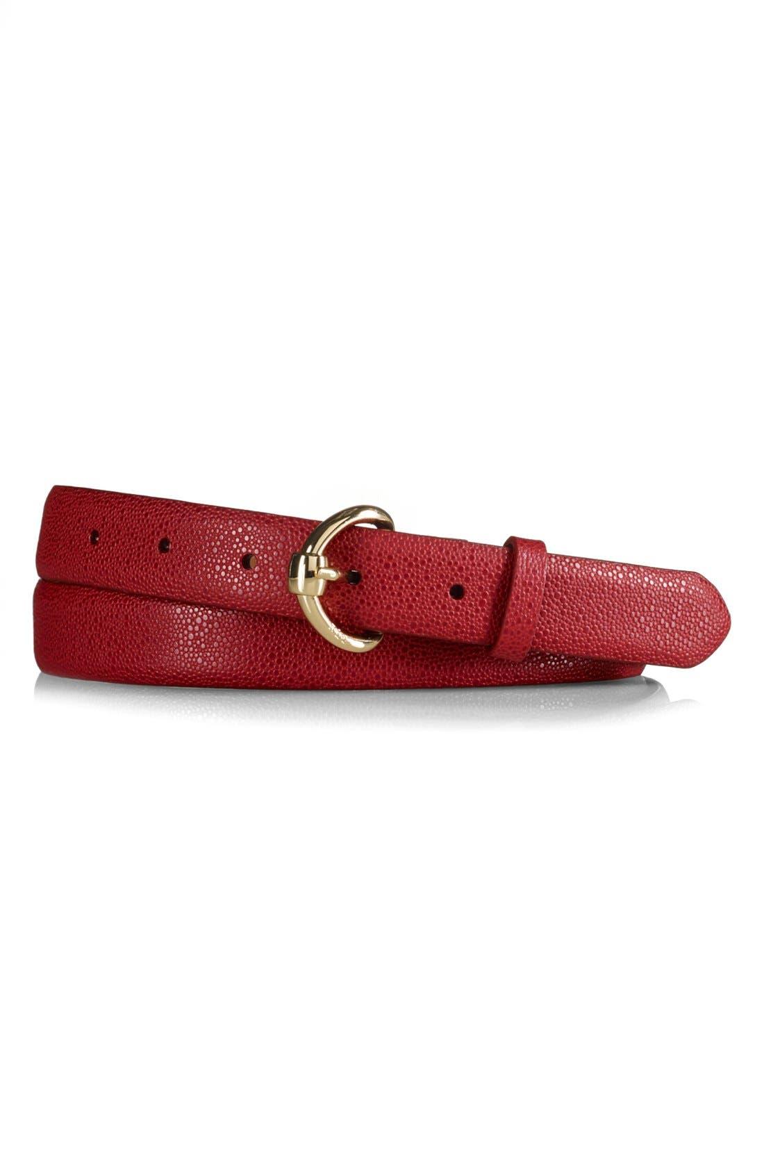 Alternate Image 1 Selected - Lauren Ralph Lauren Stingray Embossed Belt