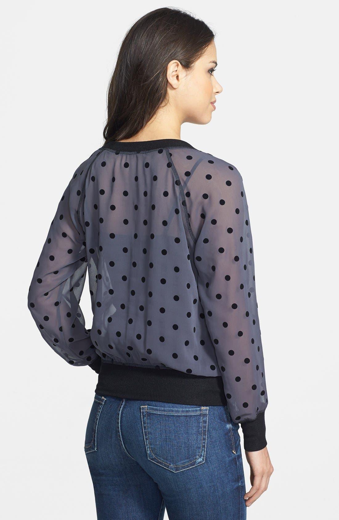 Alternate Image 2  - Olivia Moon Dot Print Chiffon Pullover