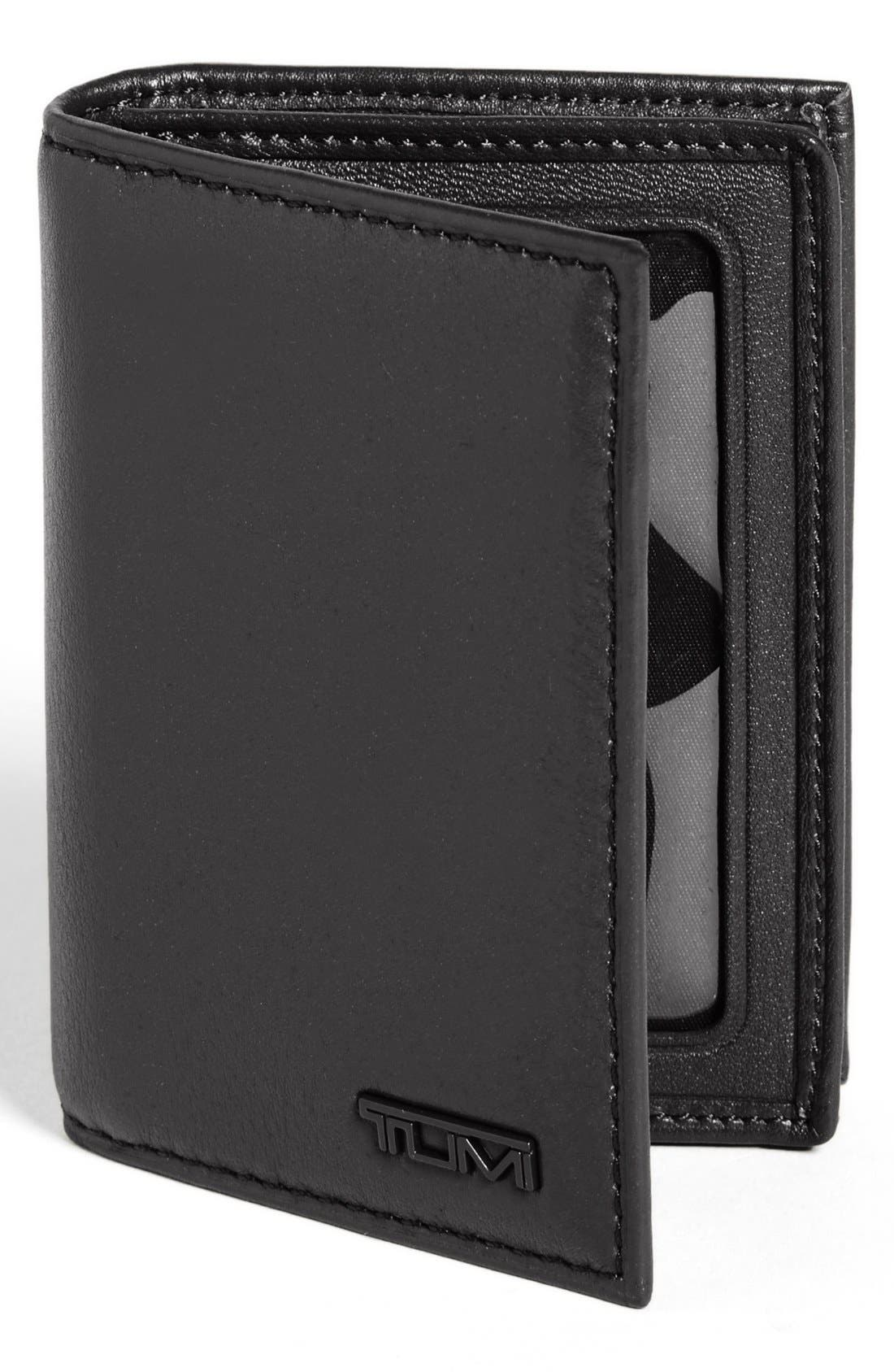 Alternate Image 1 Selected - Tumi 'Delta' Gusseted Leather Card Case