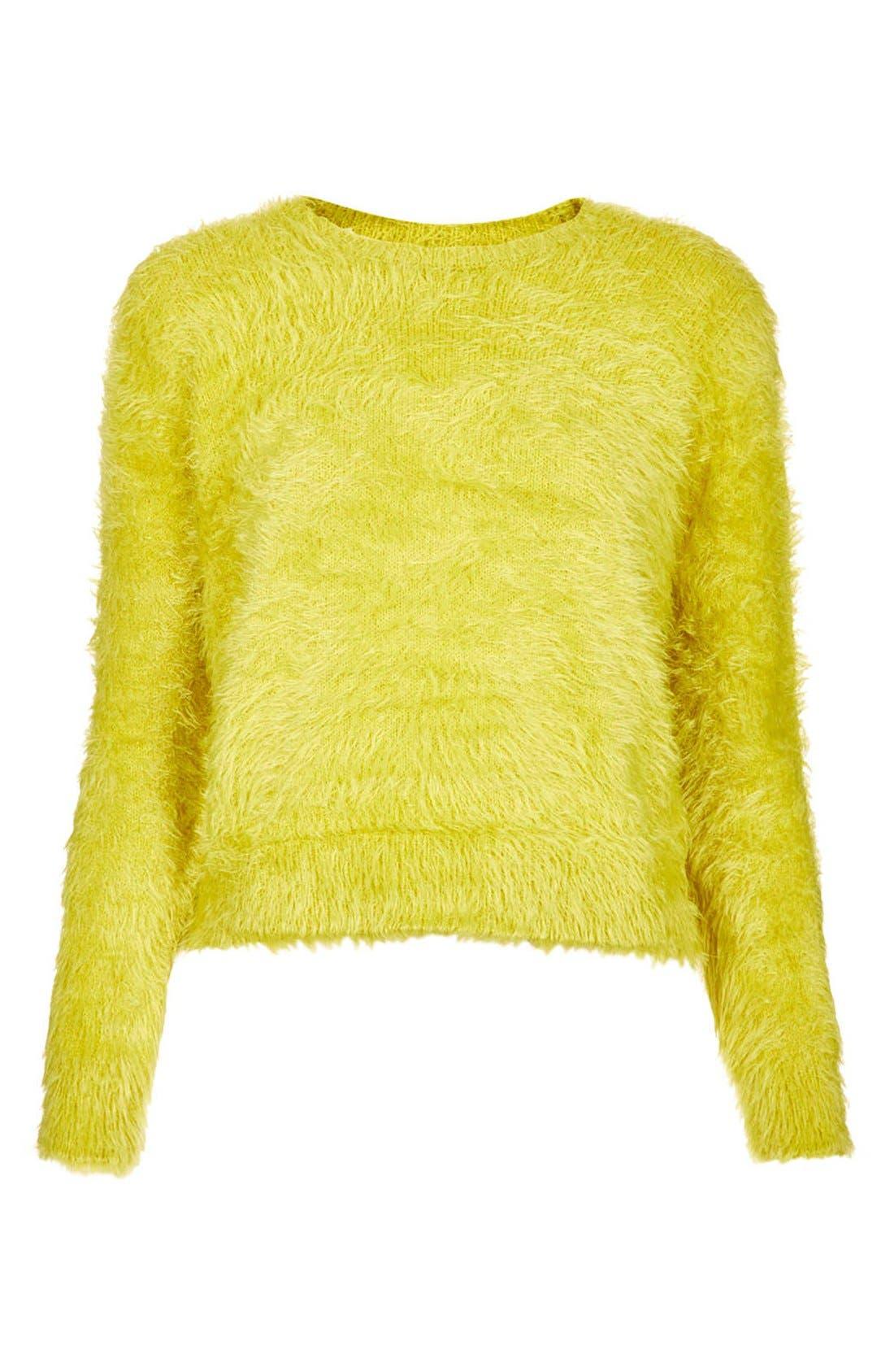 Alternate Image 3  - Topshop Textured Crewneck Sweater (Petite)
