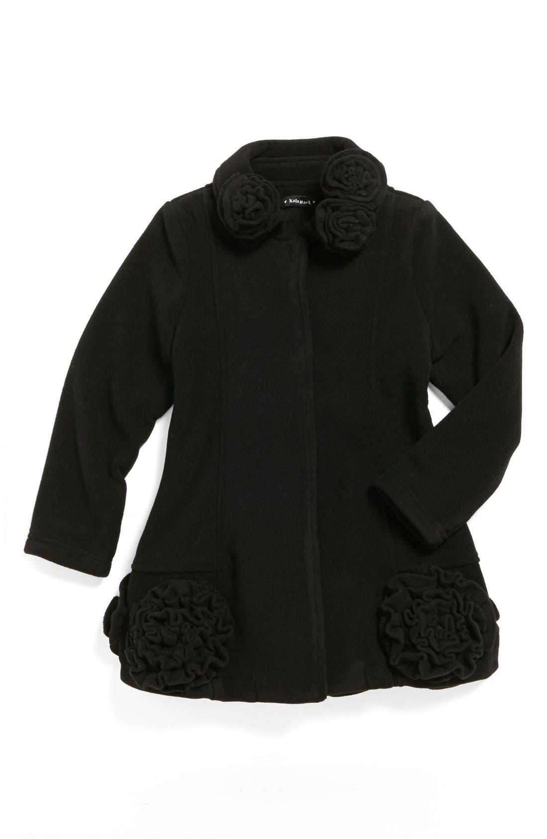 Main Image - Kate Mack Rosette Coat (Little Girls)