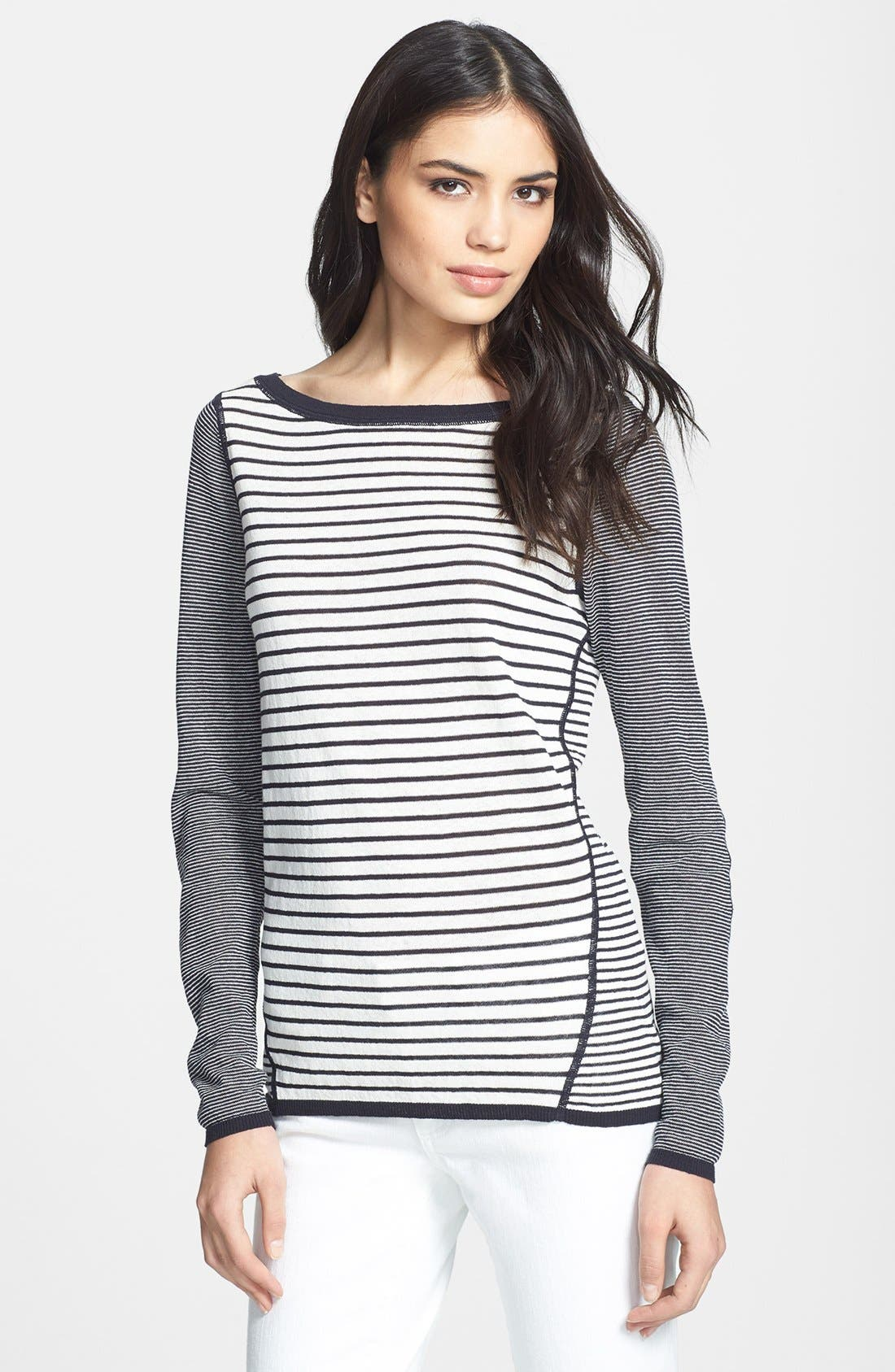 Main Image - Tory Burch 'Kamila' Mixed Stripe Sweater