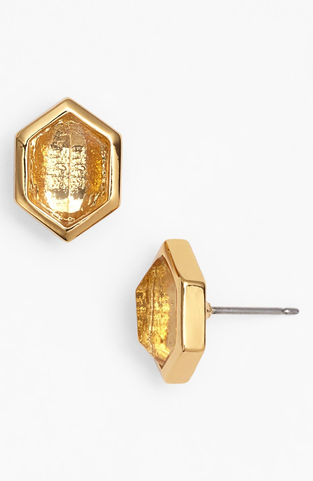 Alternate Image 1 Selected - Vince Camuto 'Clearview' Hexagon Stone Stud Earrings