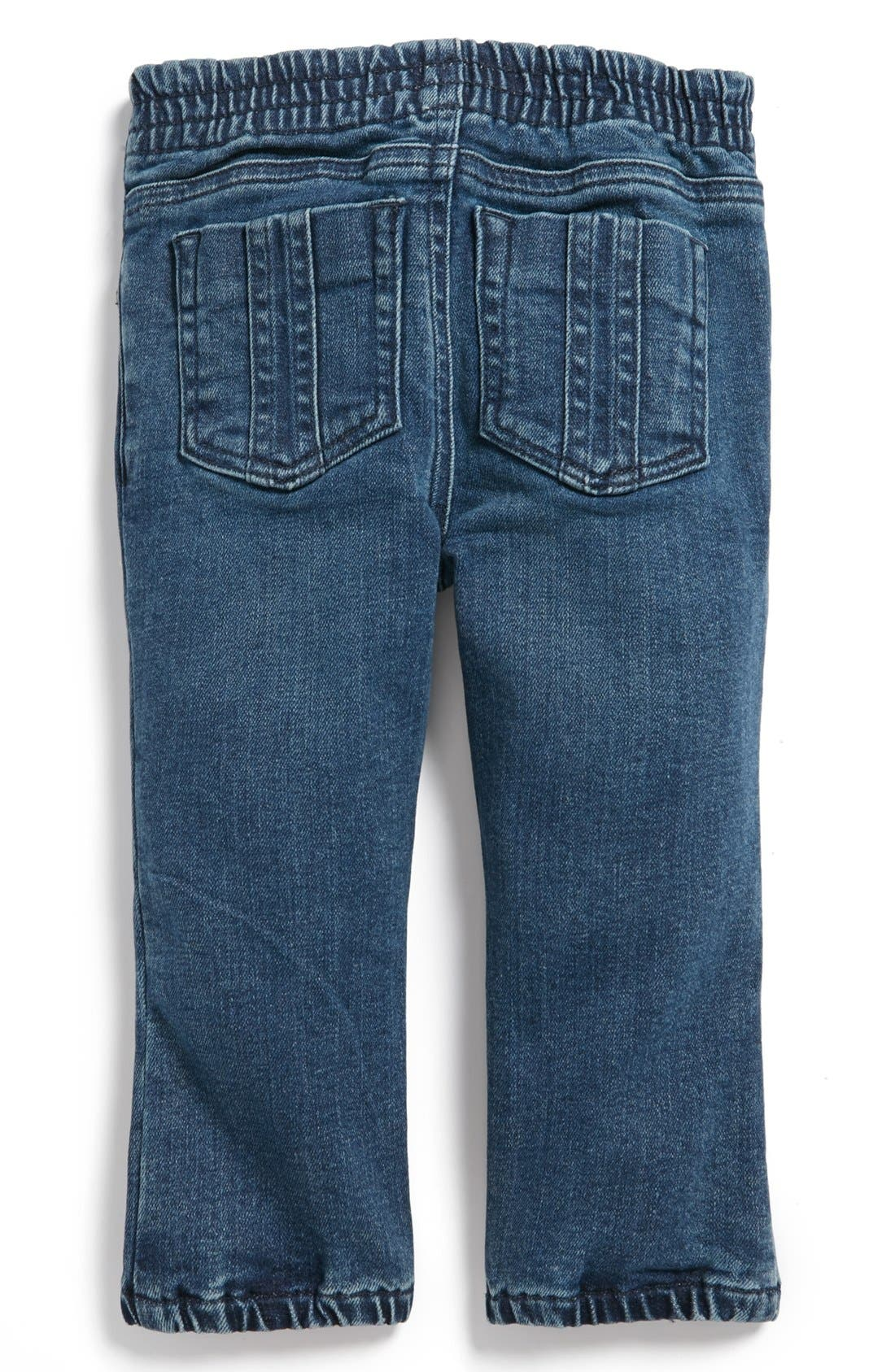 Alternate Image 1 Selected - Burberry Denim Pants (Toddler Girls)