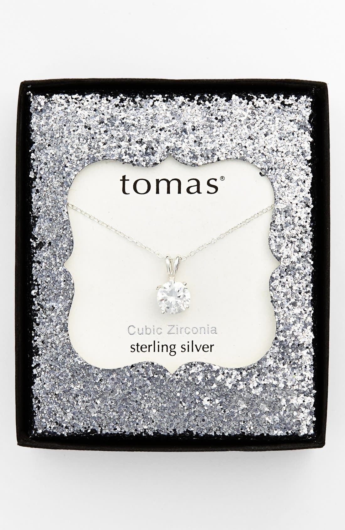 Alternate Image 2  - Tomas Cubic Zirconia Sterling Silver Pendant Necklace (Juniors)