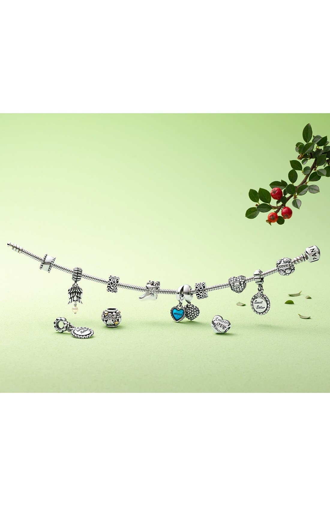 Alternate Image 6  - PANDORA 'Piece of My Heart' Dangle Charms (Set of 2)