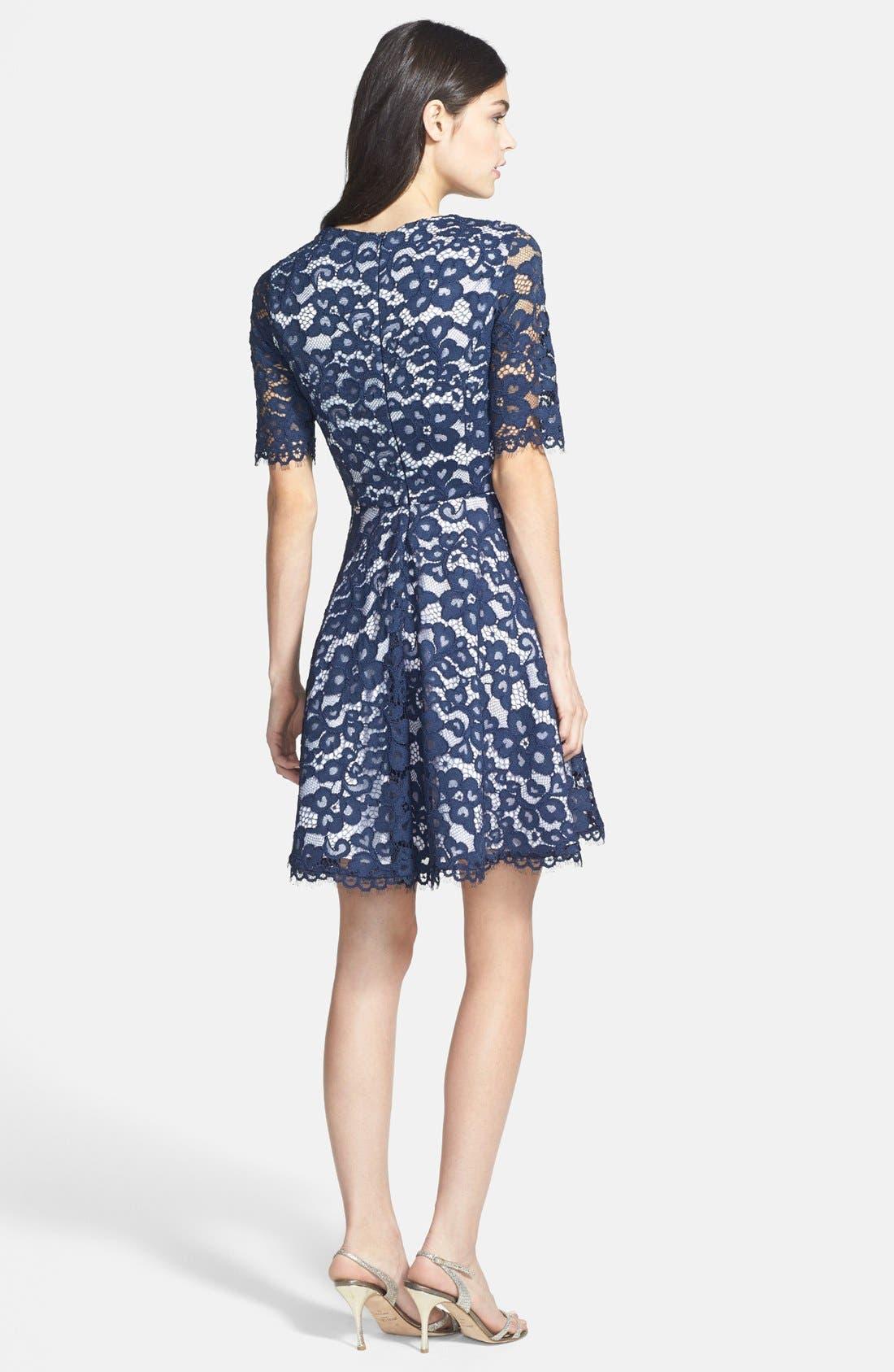 Alternate Image 2  - Shoshanna 'Carmen' Lace Fit & Flare Dress