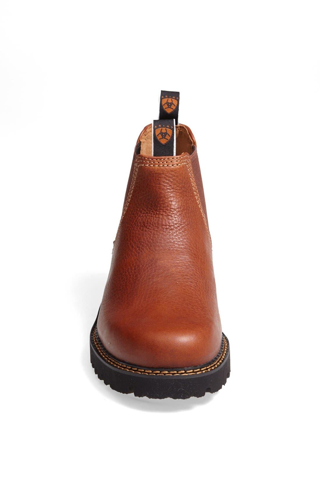 'Spot Hog' Chelsea Boot,                             Alternate thumbnail 3, color,                             Peanut