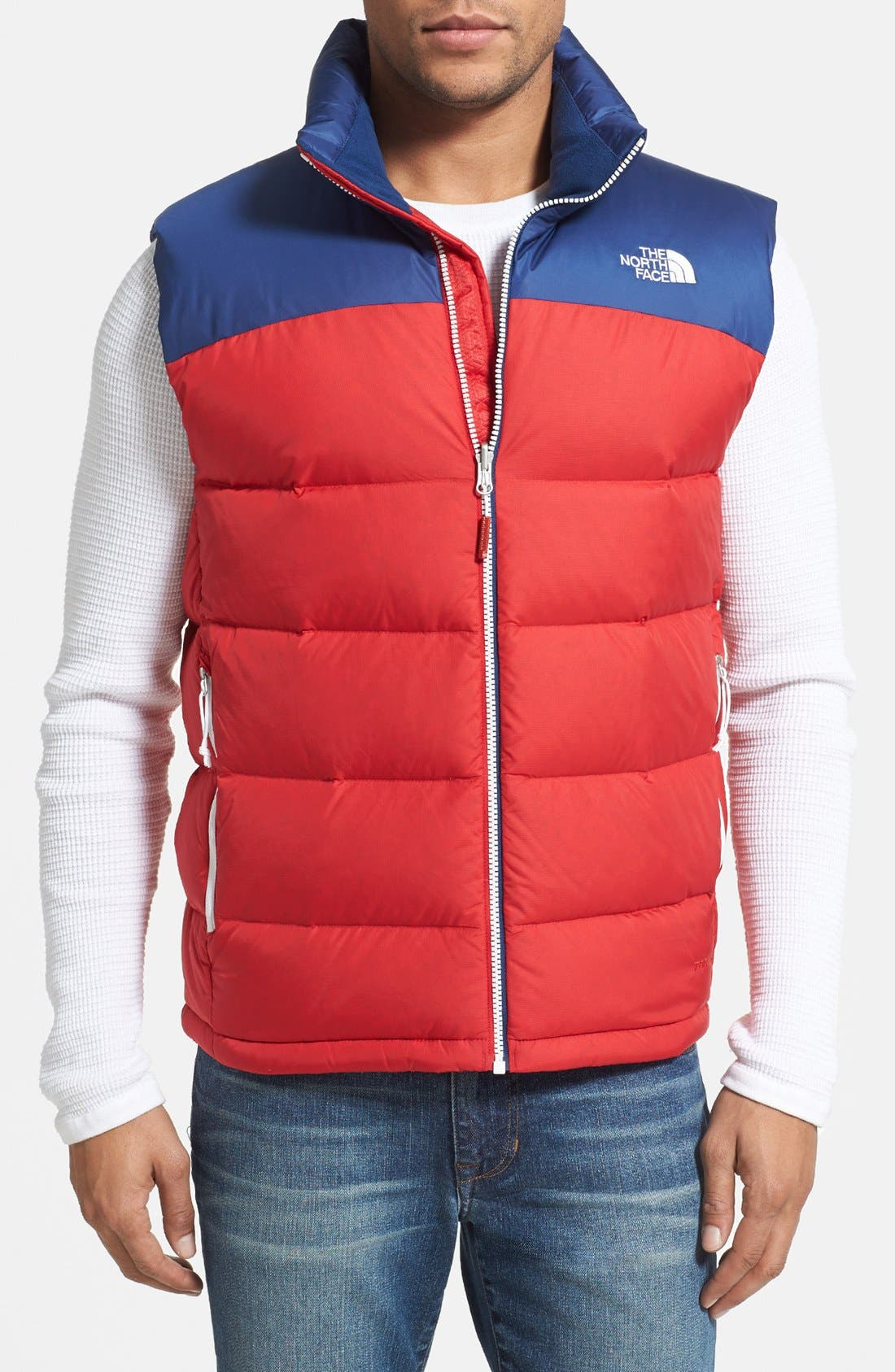 Alternate Image 1 Selected - The North Face 'Nuptse' Colorblocked Down Vest