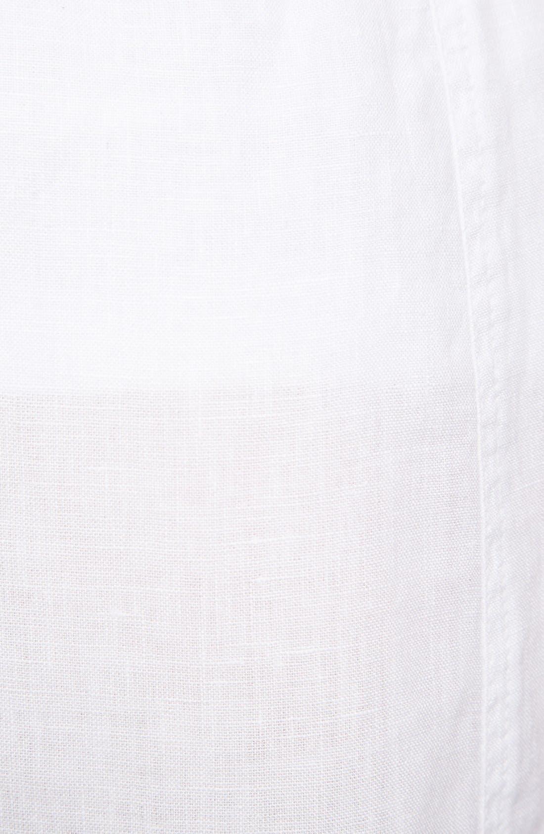 Alternate Image 3  - Allen Allen Ruffle Hem Linen Skirt