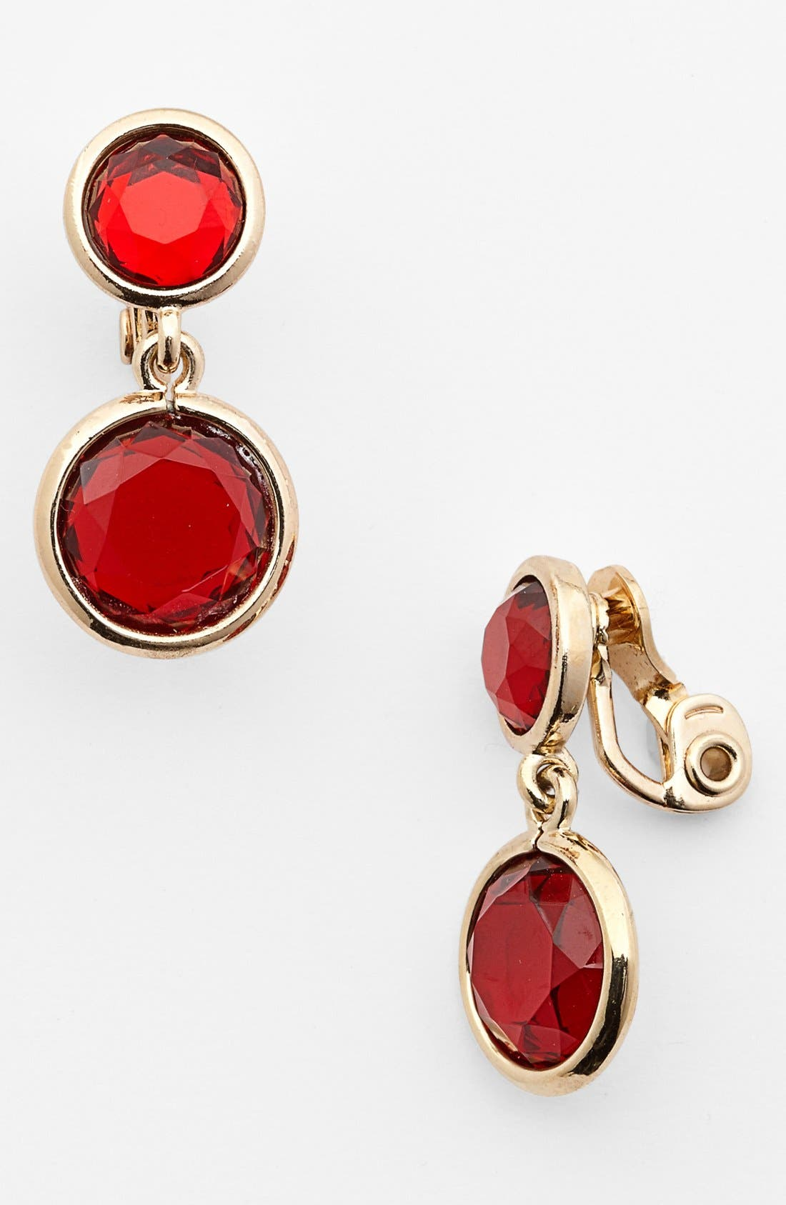 Alternate Image 1 Selected - Anne Klein Drop Clip-On Earrings