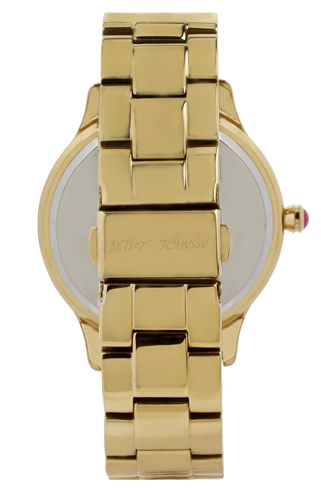 Alternate Image 2  - Betsey Johnson Leopard Print Dial Watch, 40mm