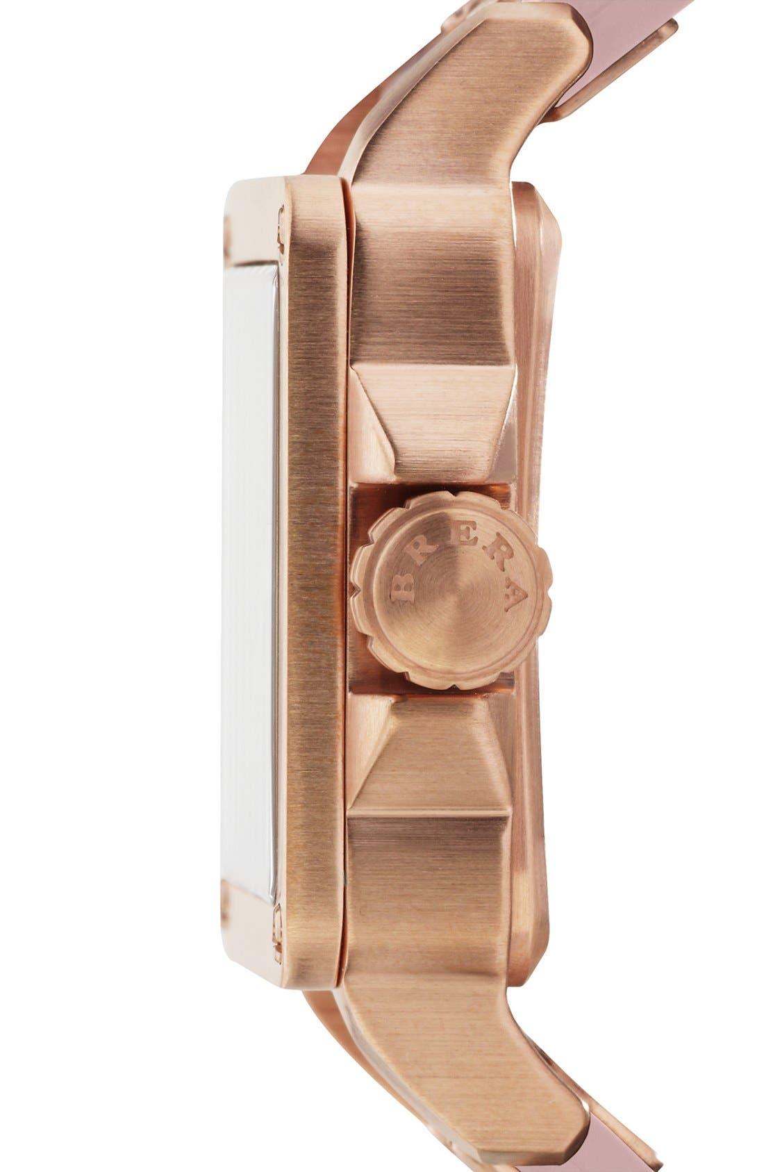 Alternate Image 5  - STELLA SQUARE DIAMOND WATCH W/ LEATHER STRAP