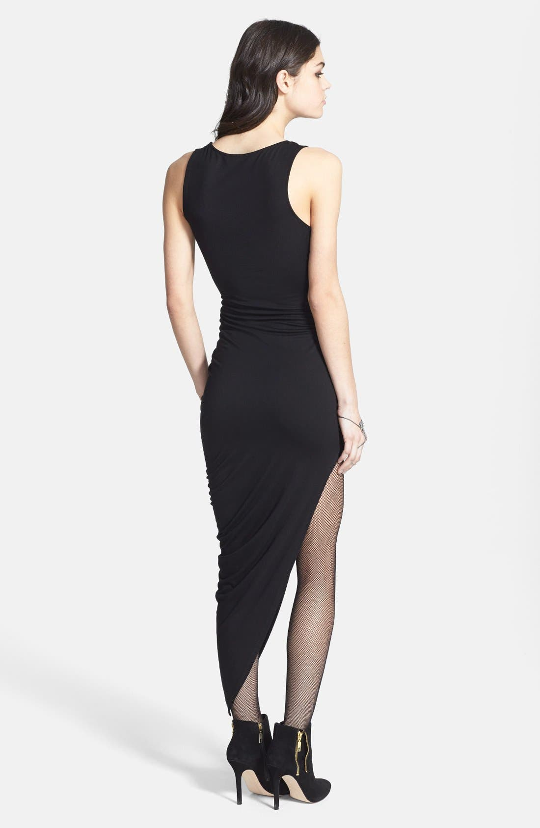 Alternate Image 2  - ASTR Asymmetrical Faux Wrap Body-Con Dress