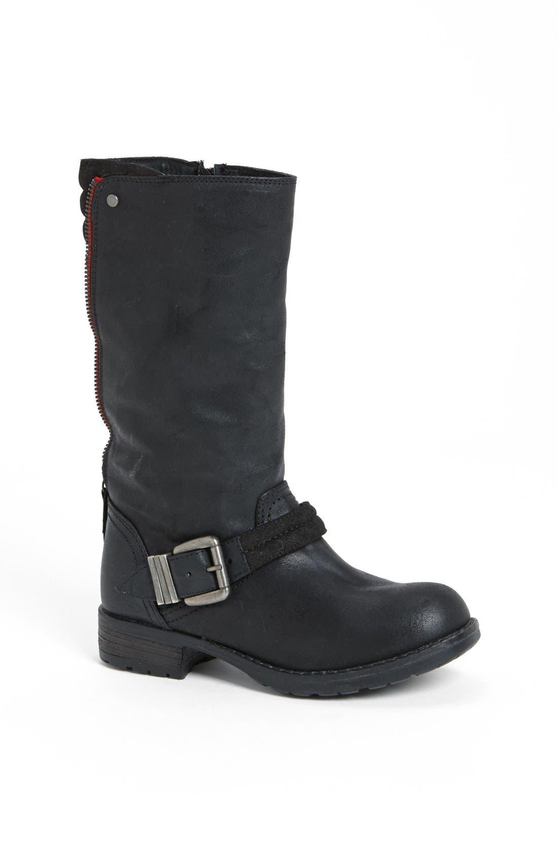 Alternate Image 1 Selected - Steve Madden 'Momentim' Leather Moto Boot
